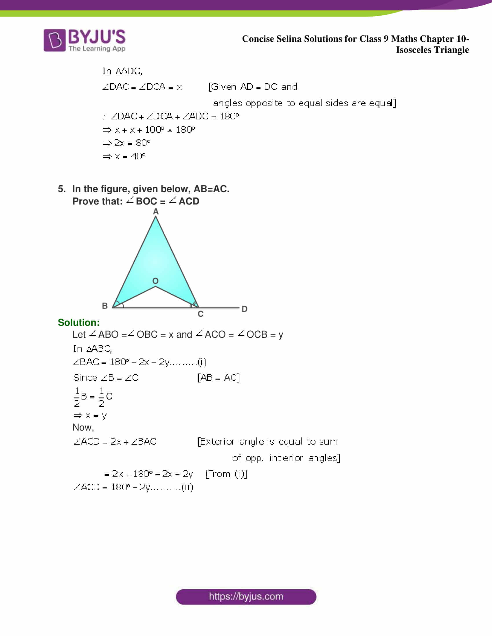 selina Solutions for Class 9 Maths Chapter 10 part 06