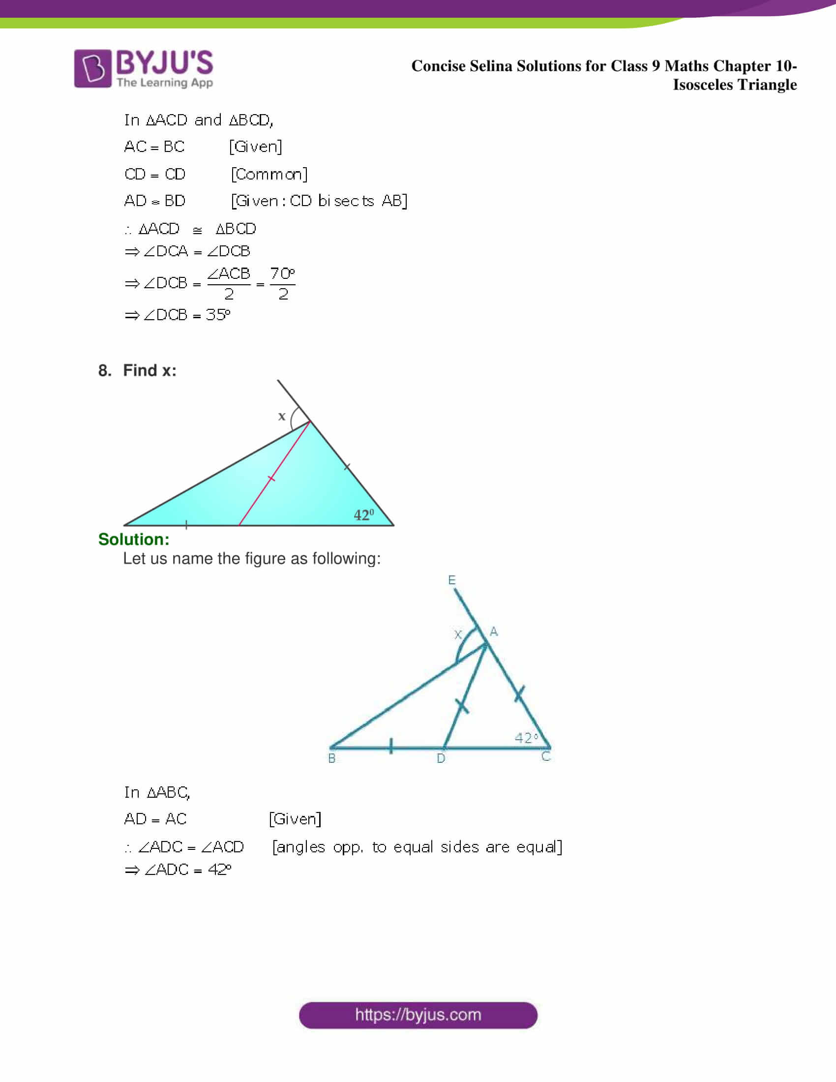 selina Solutions for Class 9 Maths Chapter 10 part 09
