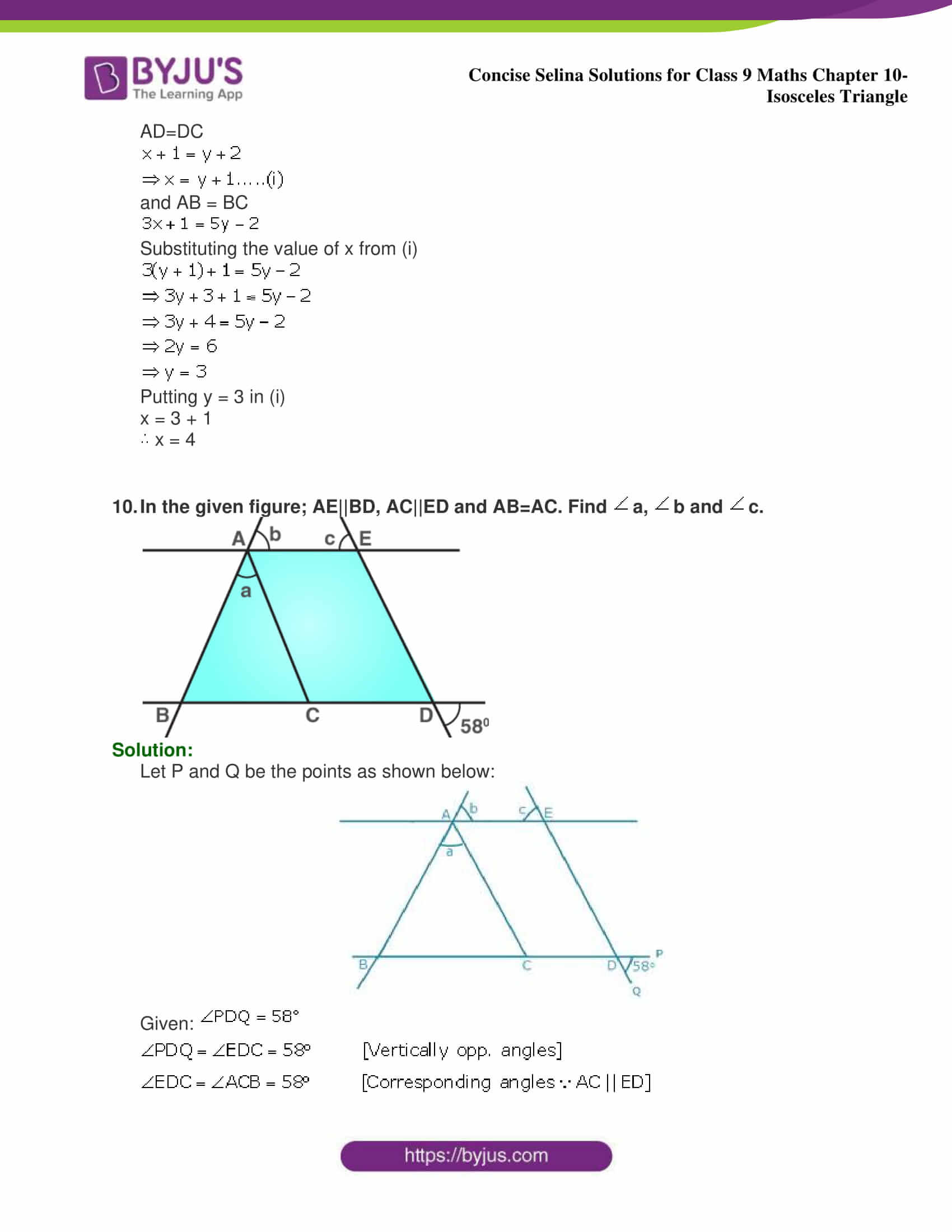 selina Solutions for Class 9 Maths Chapter 10 part 11