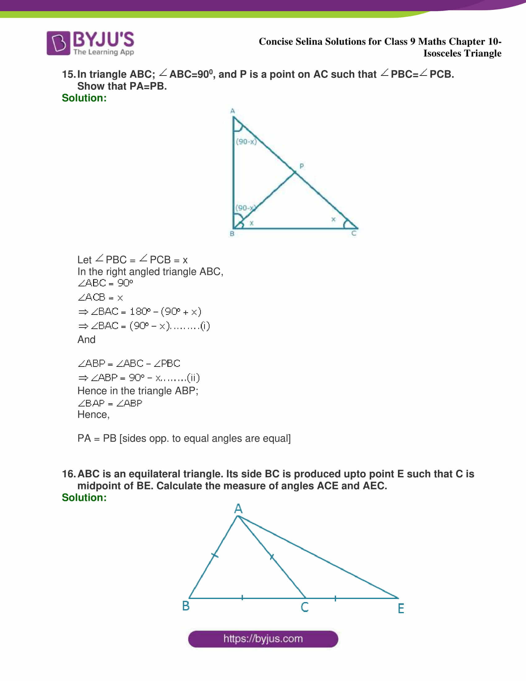 selina Solutions for Class 9 Maths Chapter 10 part 15