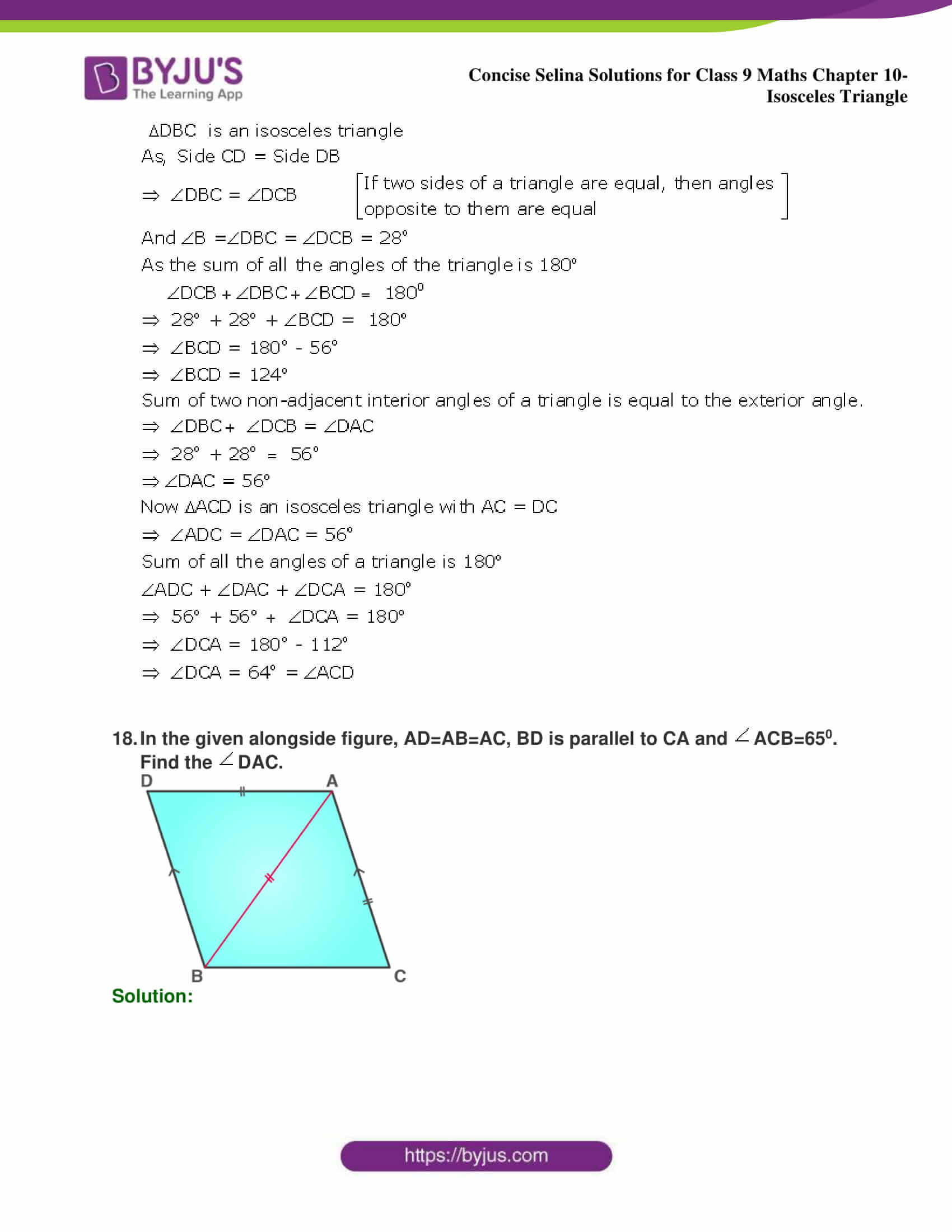 selina Solutions for Class 9 Maths Chapter 10 part 17