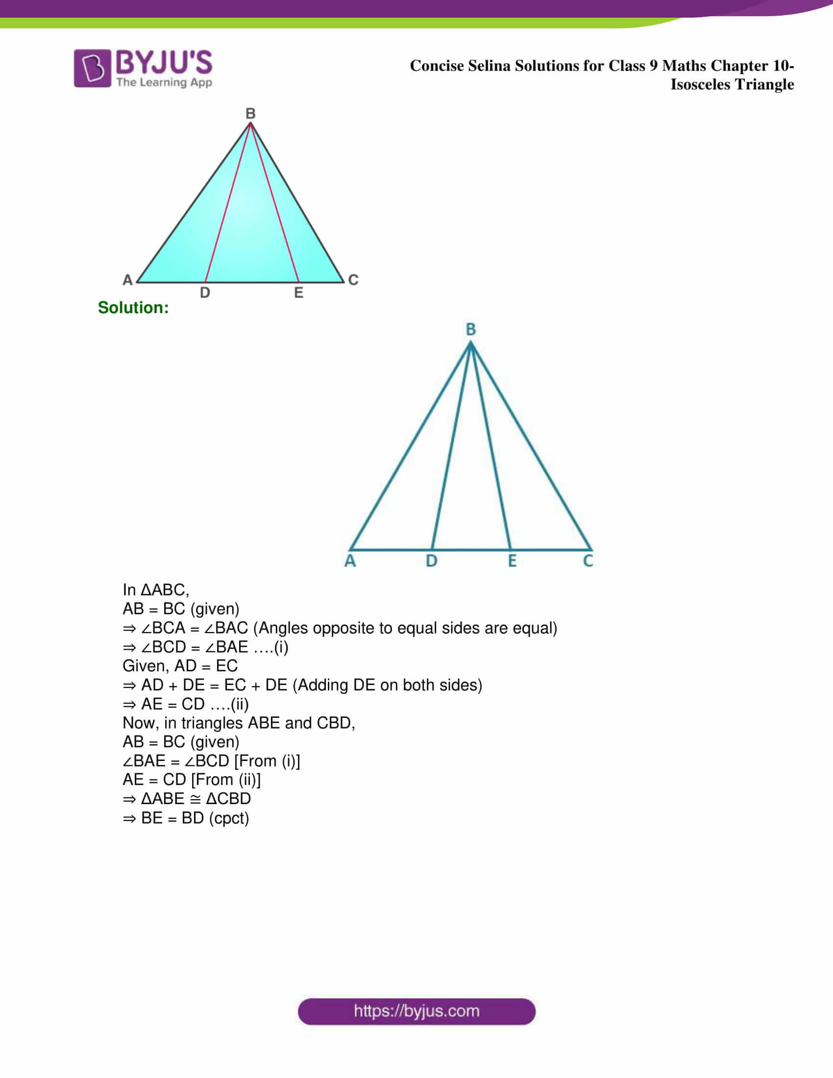 selina Solutions for Class 9 Maths Chapter 10 part 20