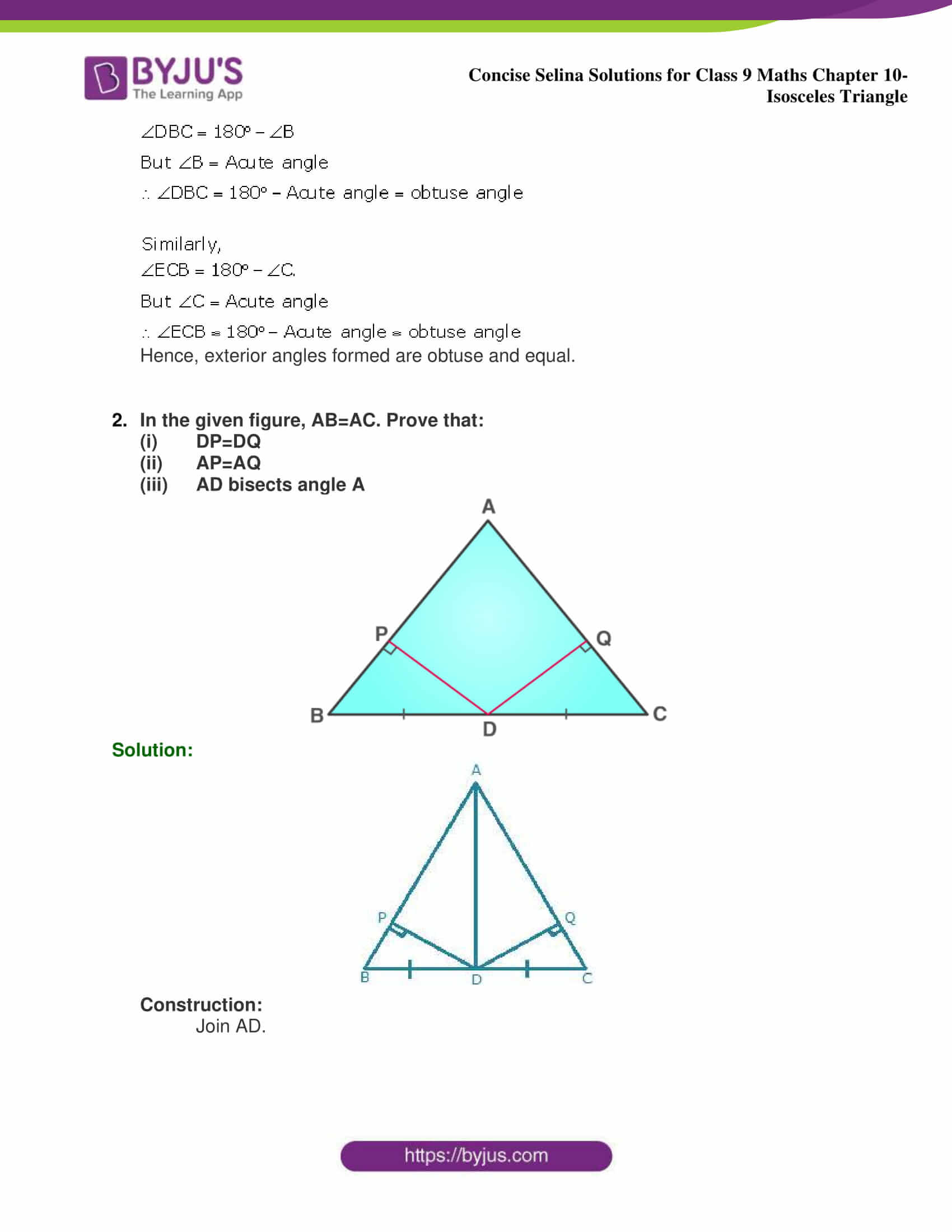 selina Solutions for Class 9 Maths Chapter 10 part 22