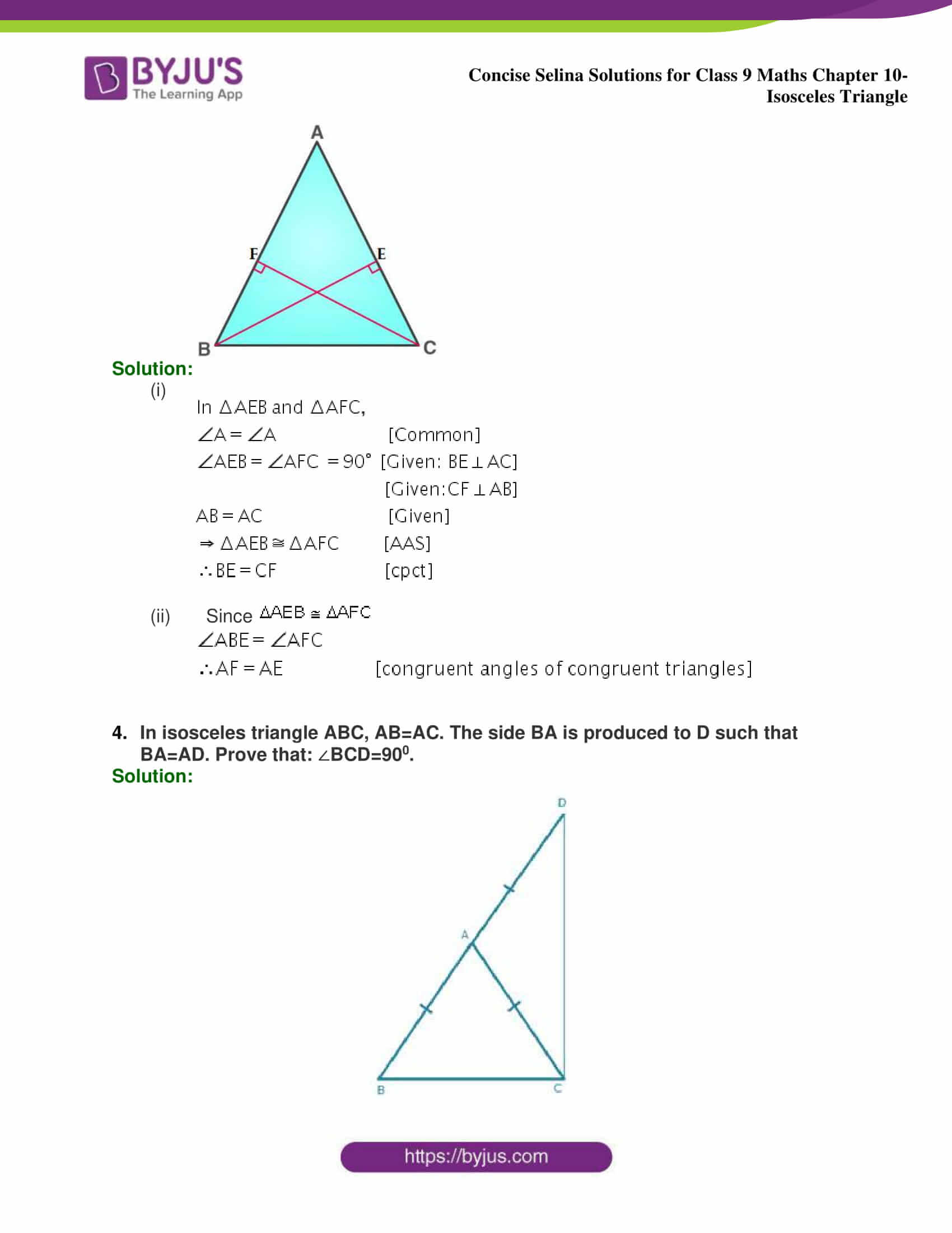 selina Solutions for Class 9 Maths Chapter 10 part 24