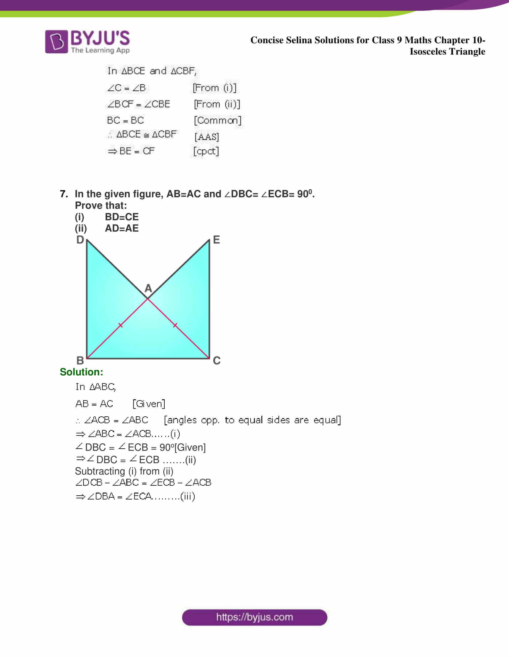 selina Solutions for Class 9 Maths Chapter 10 part 27