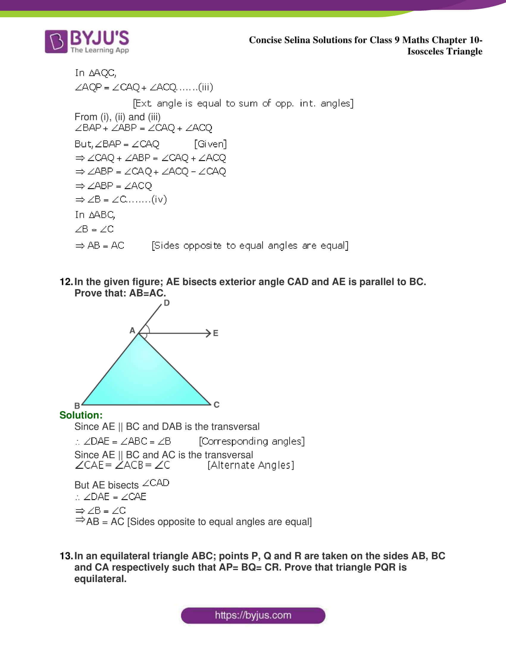 selina Solutions for Class 9 Maths Chapter 10 part 32