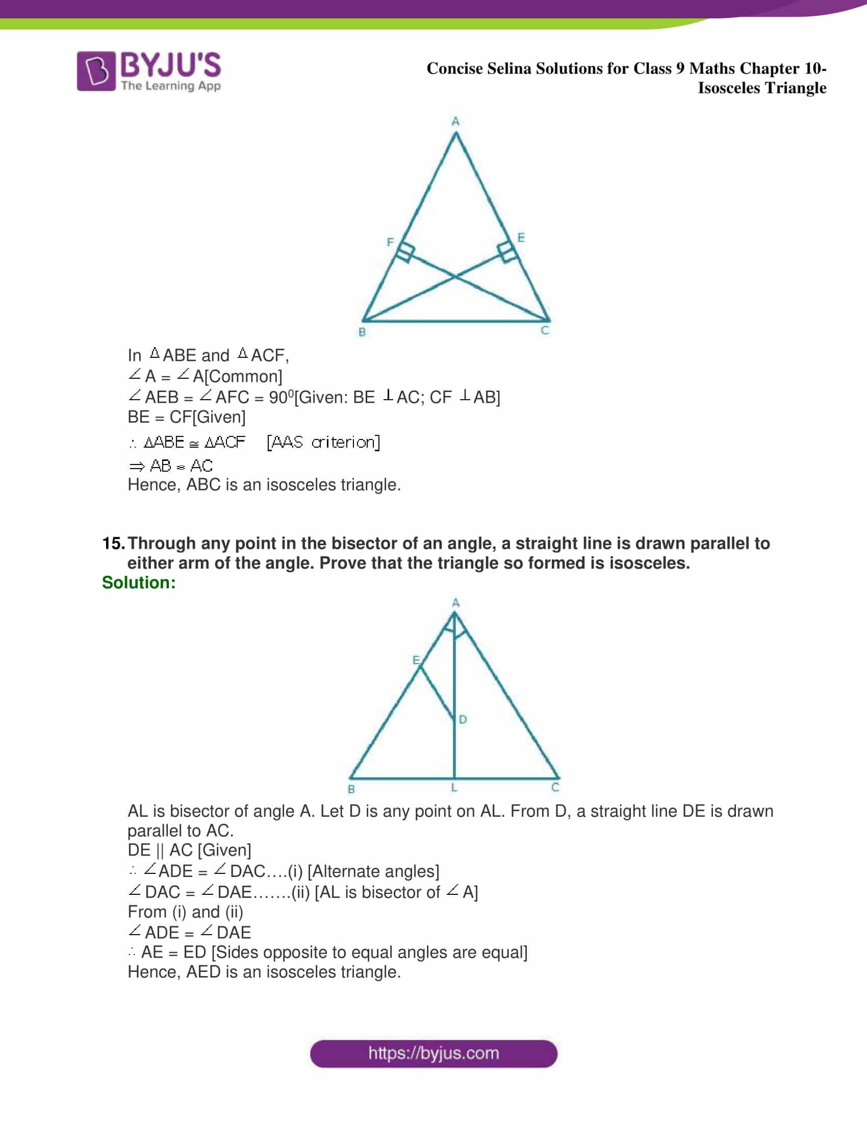 selina Solutions for Class 9 Maths Chapter 10 part 34