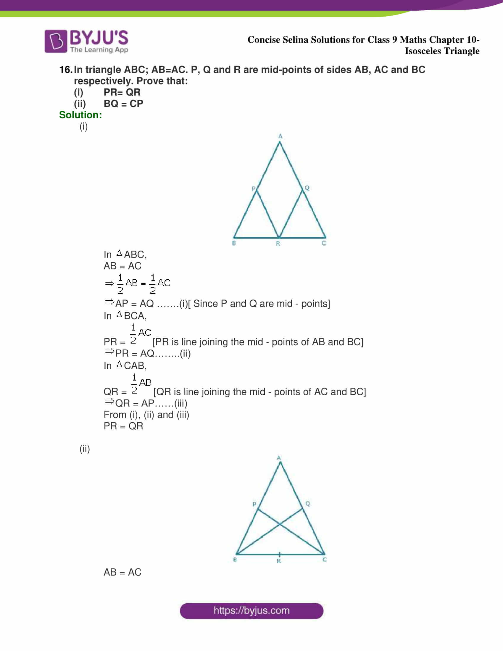 selina Solutions for Class 9 Maths Chapter 10 part 35