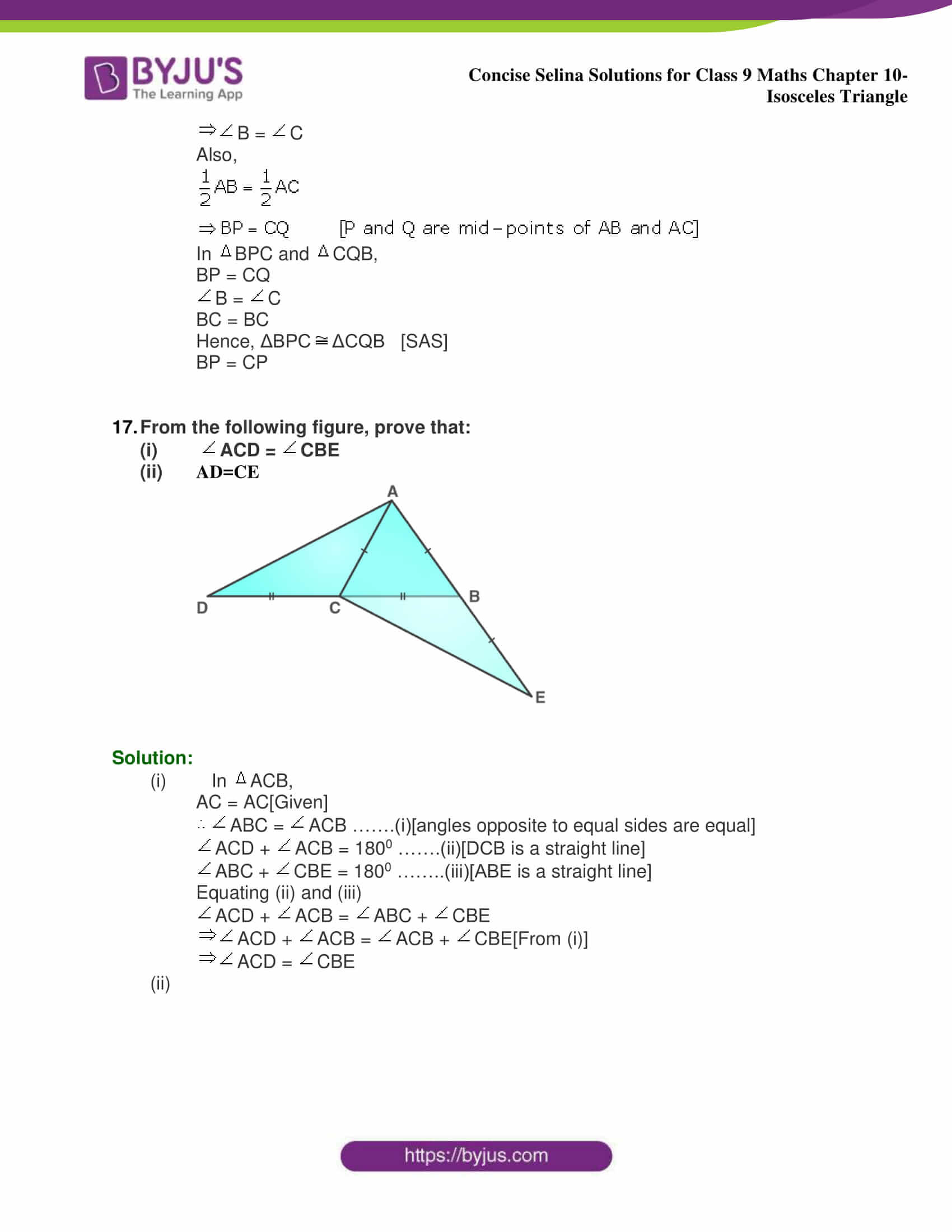 selina Solutions for Class 9 Maths Chapter 10 part 36
