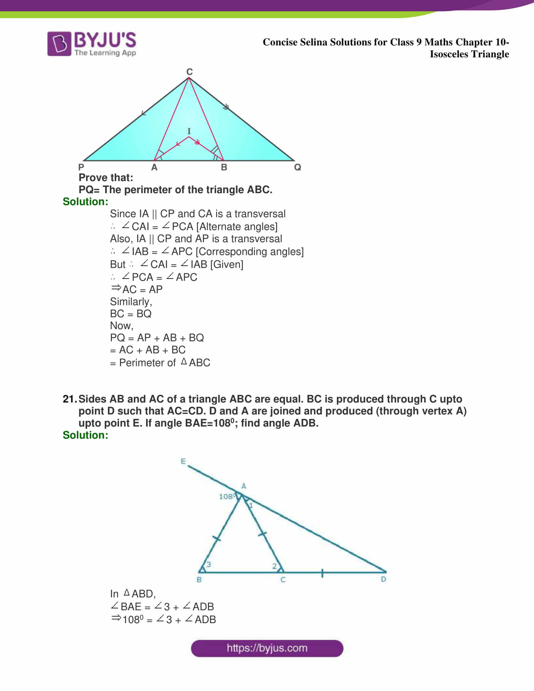 selina Solutions for Class 9 Maths Chapter 10 part 39