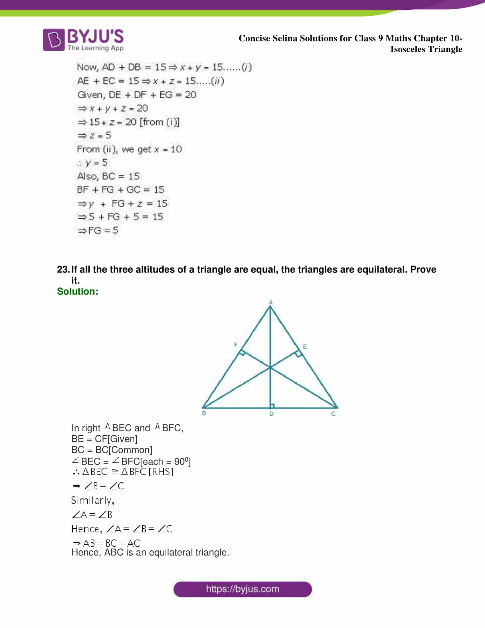 selina Solutions for Class 9 Maths Chapter 10 part 41