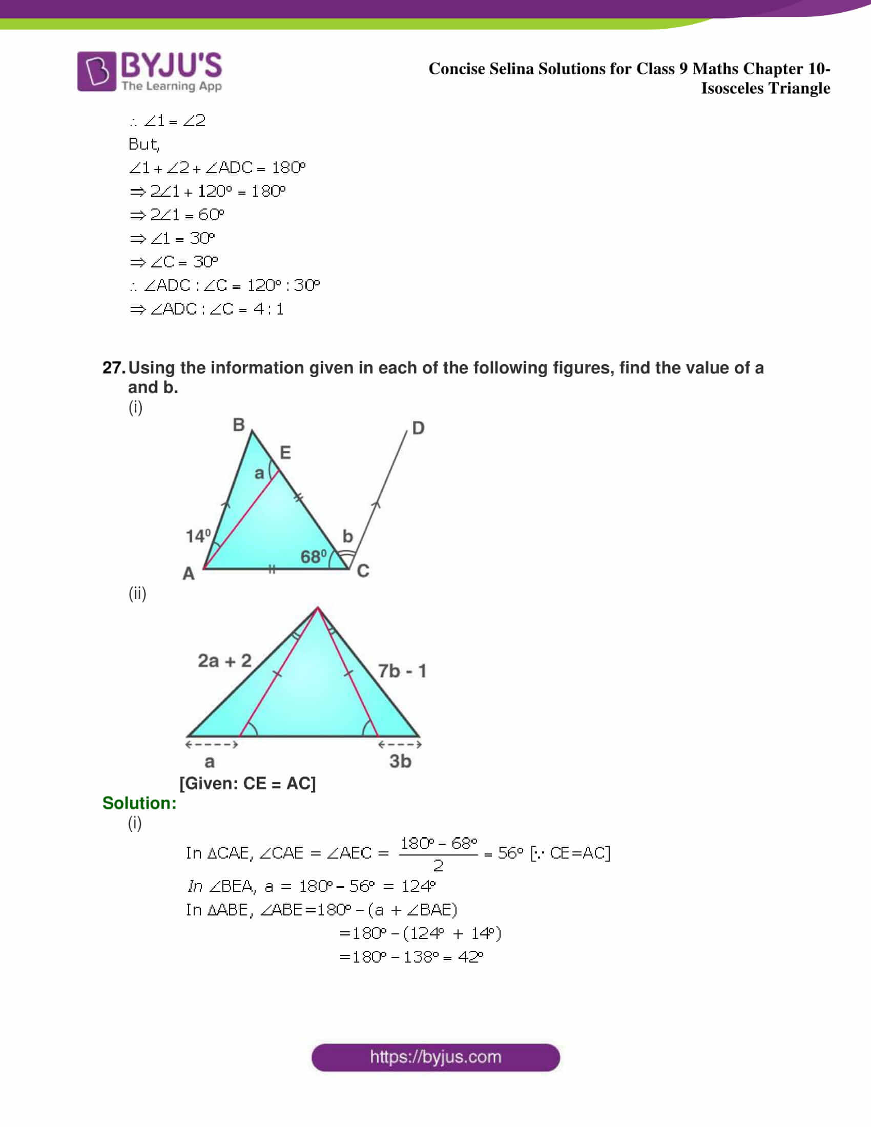 selina Solutions for Class 9 Maths Chapter 10 part 44