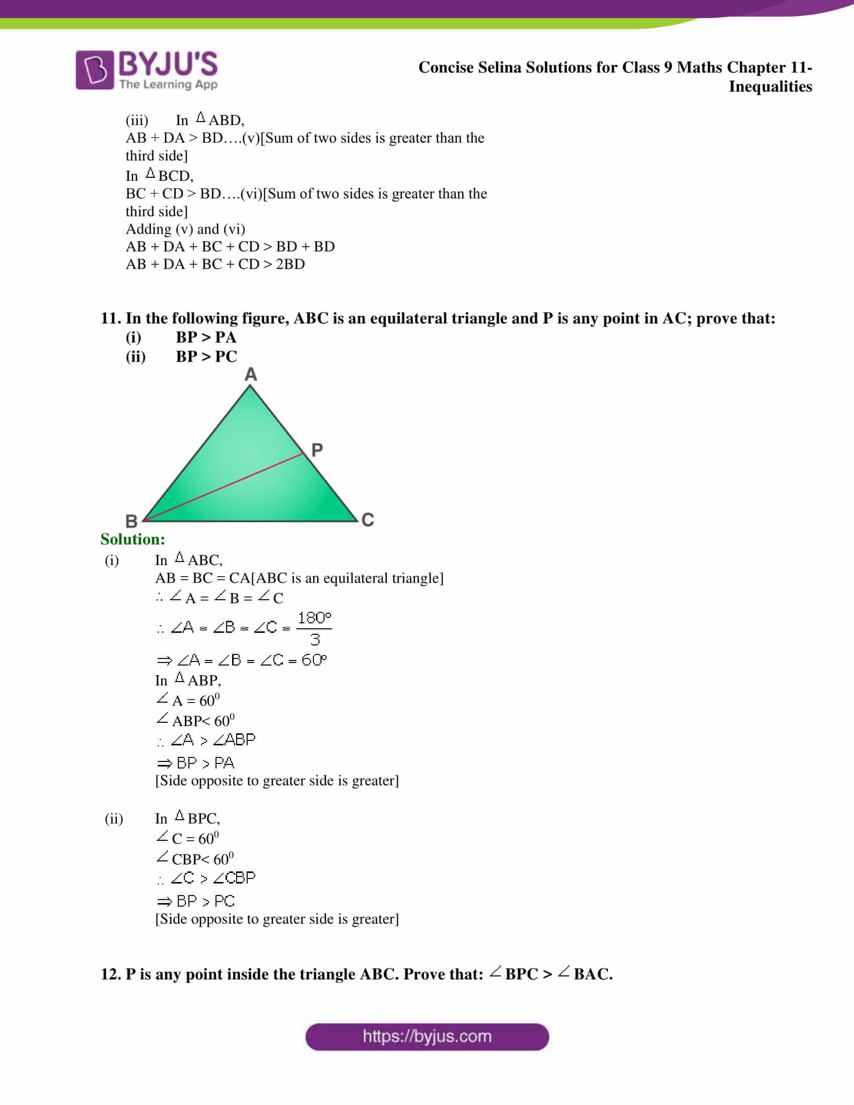 selina Solutions for Class 9 Maths Chapter 11 part 10