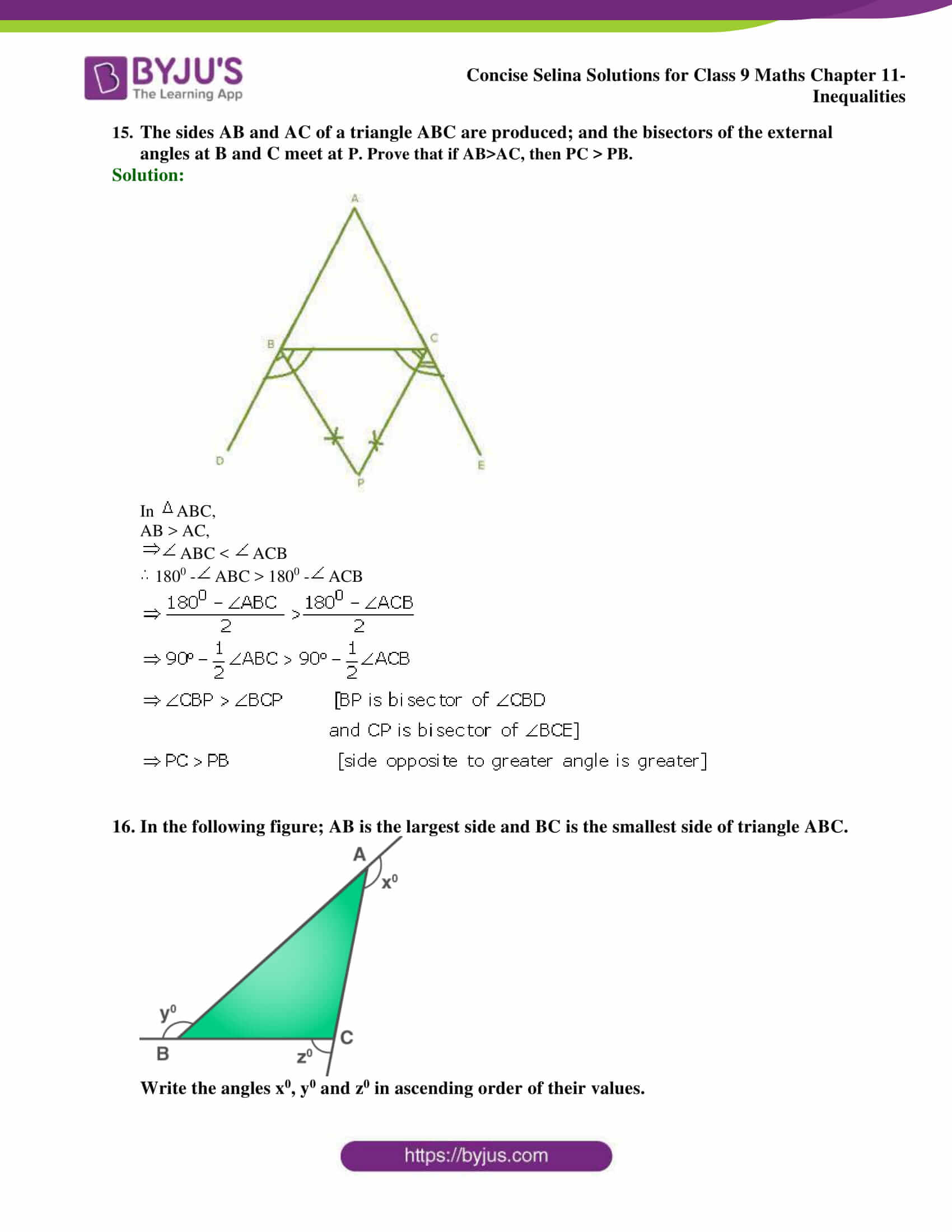 selina Solutions for Class 9 Maths Chapter 11 part 13