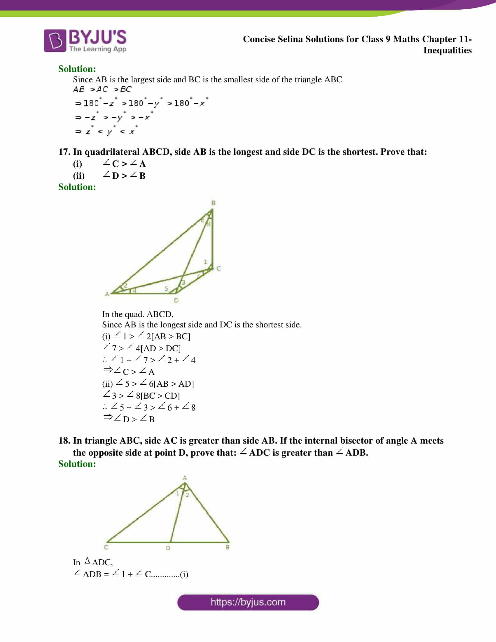 selina Solutions for Class 9 Maths Chapter 11 part 14