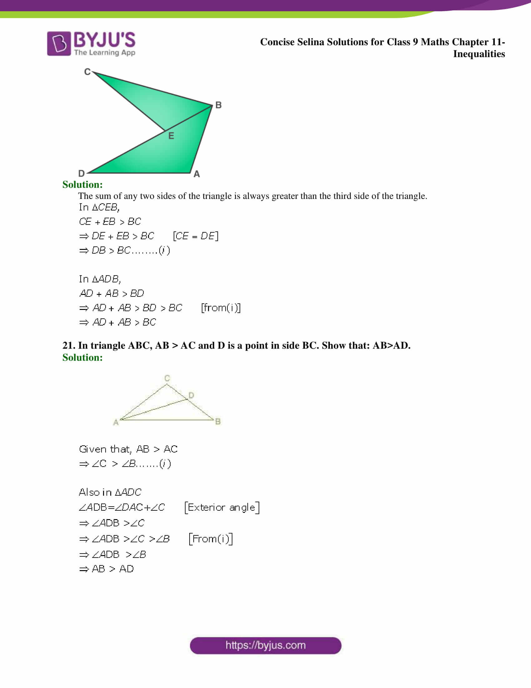 selina Solutions for Class 9 Maths Chapter 11 part 16