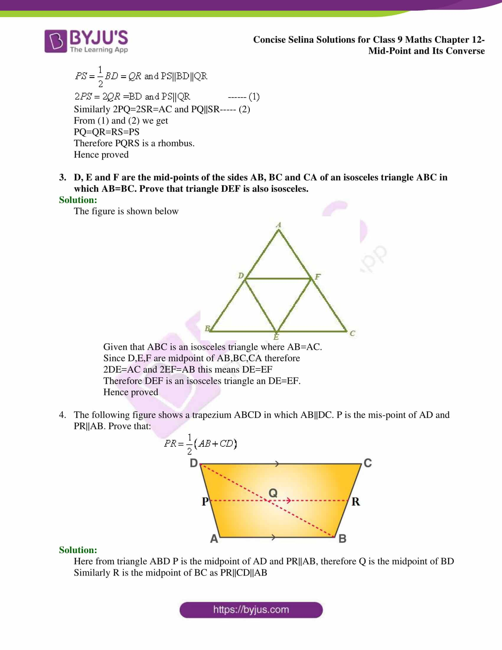selina Solutions for Class 9 Maths Chapter 12 part 02