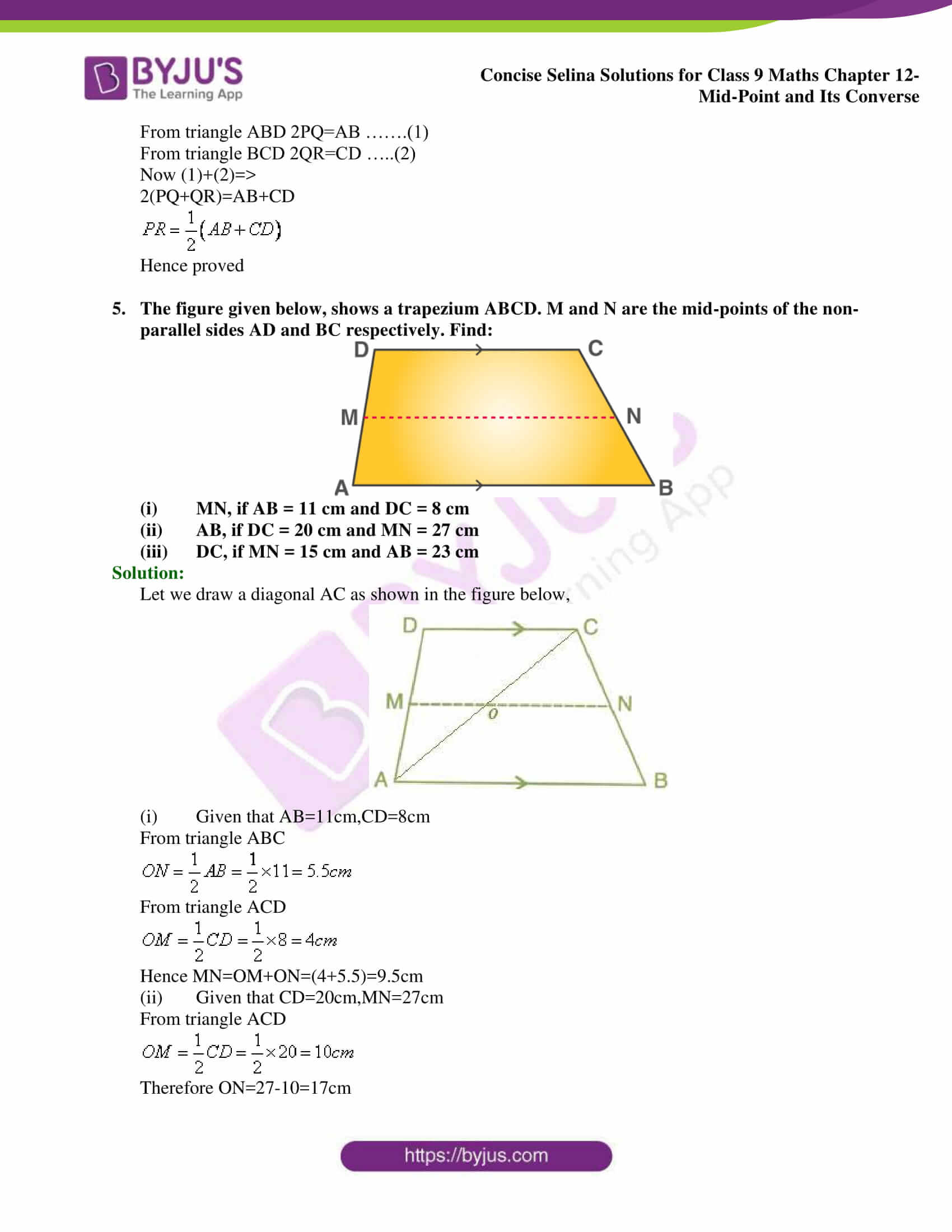 selina Solutions for Class 9 Maths Chapter 12 part 03
