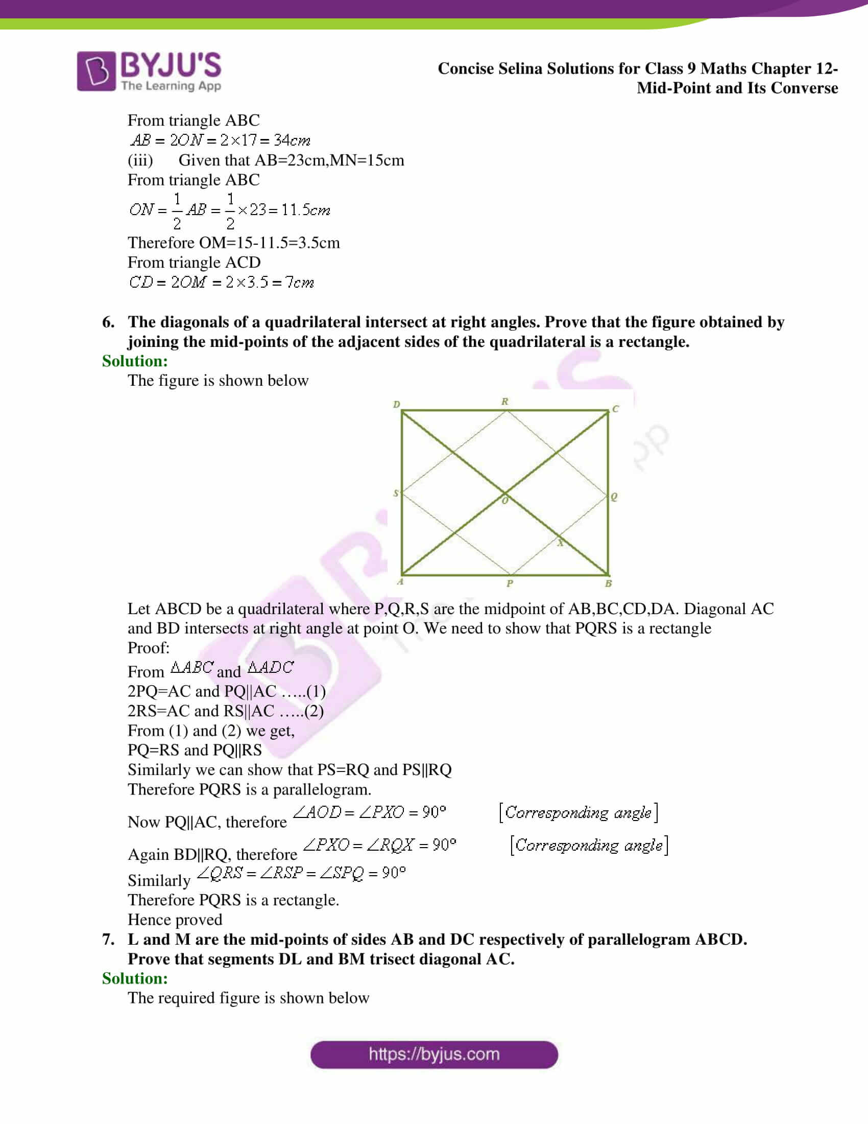 selina Solutions for Class 9 Maths Chapter 12 part 04