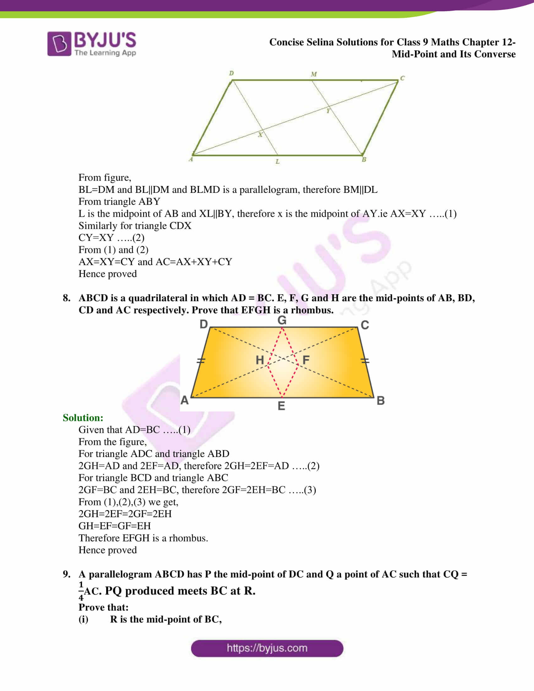 selina Solutions for Class 9 Maths Chapter 12 part 05