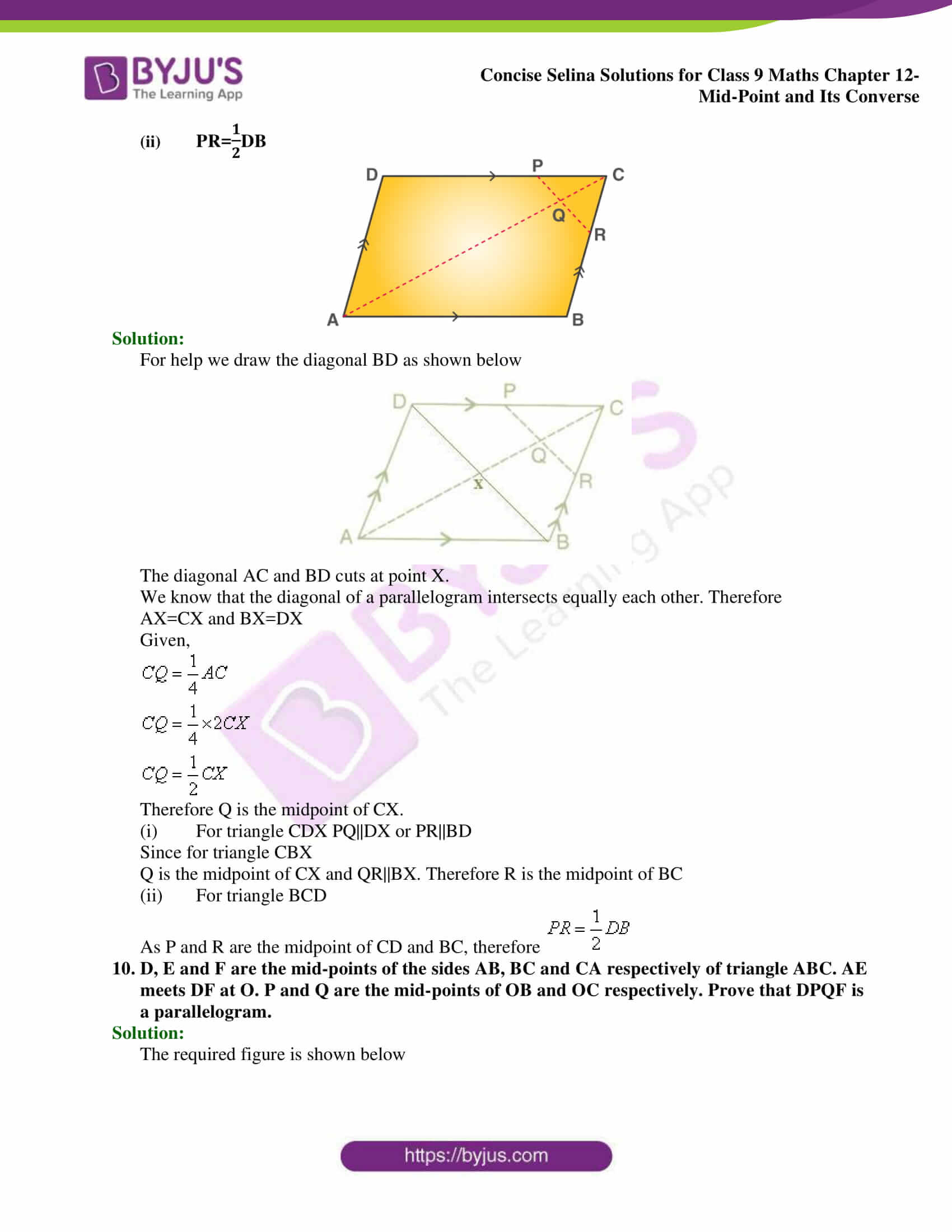 selina Solutions for Class 9 Maths Chapter 12 part 06