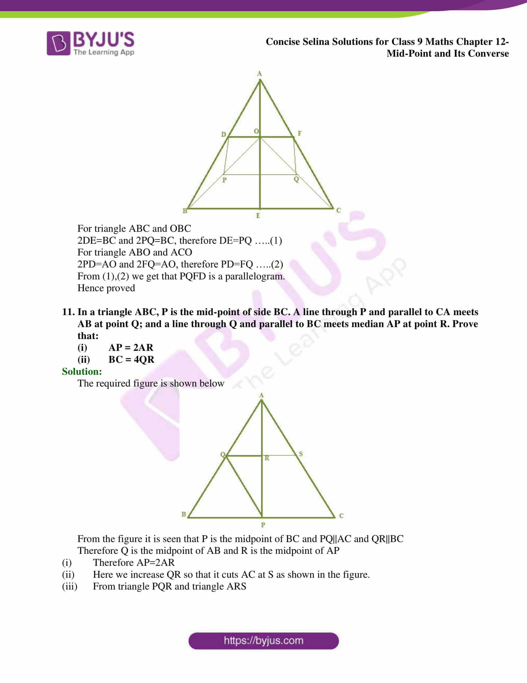 selina Solutions for Class 9 Maths Chapter 12 part 07