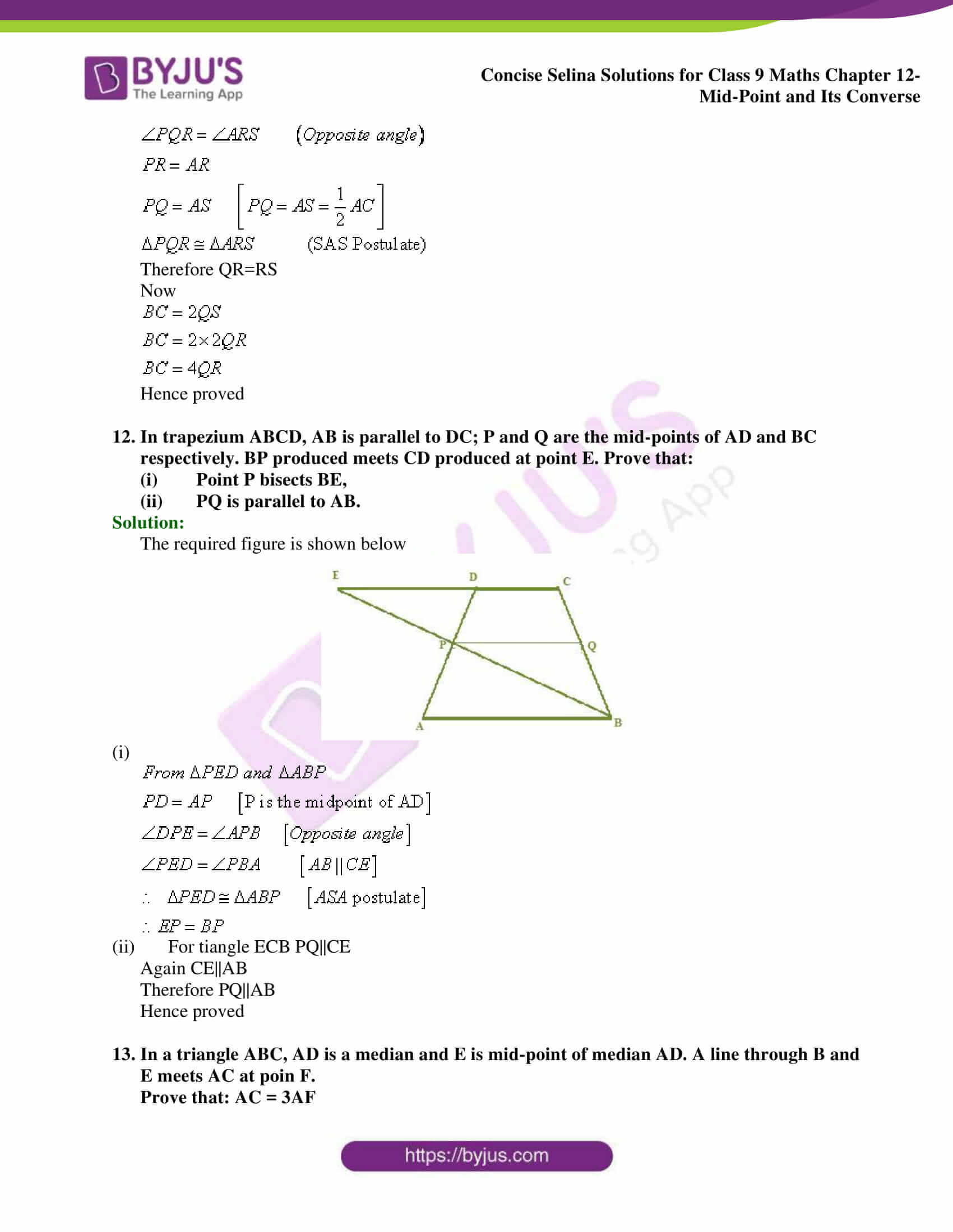 selina Solutions for Class 9 Maths Chapter 12 part 08
