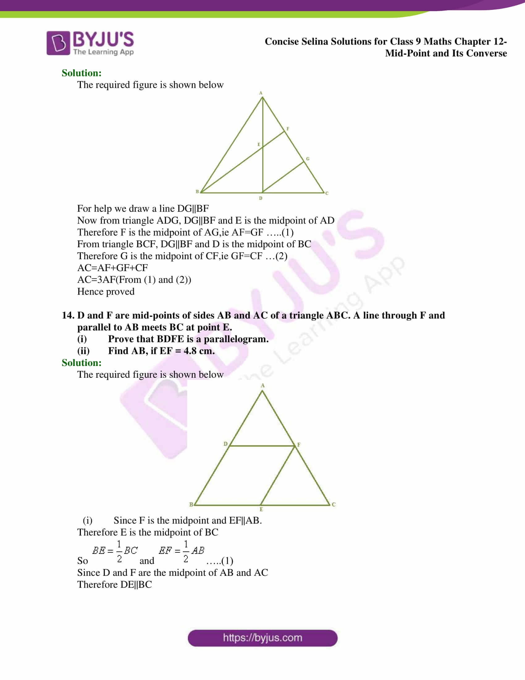 selina Solutions for Class 9 Maths Chapter 12 part 09