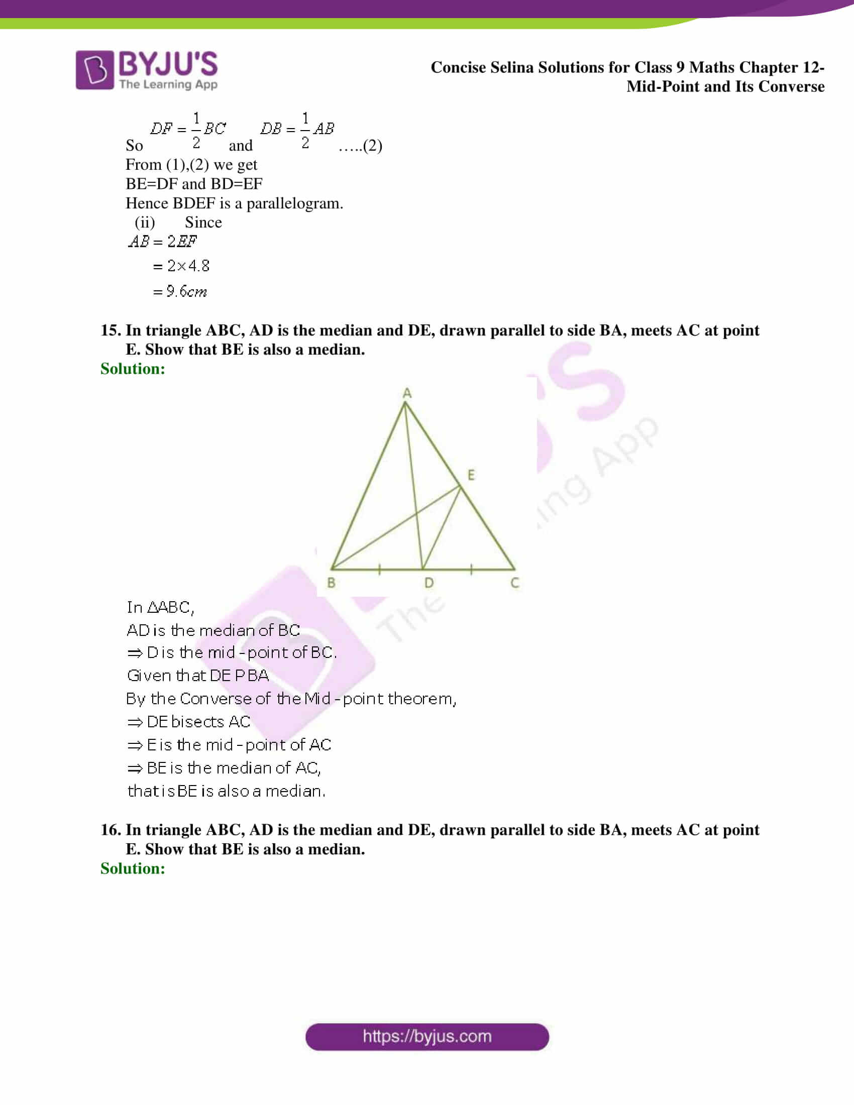 selina Solutions for Class 9 Maths Chapter 12 part 10