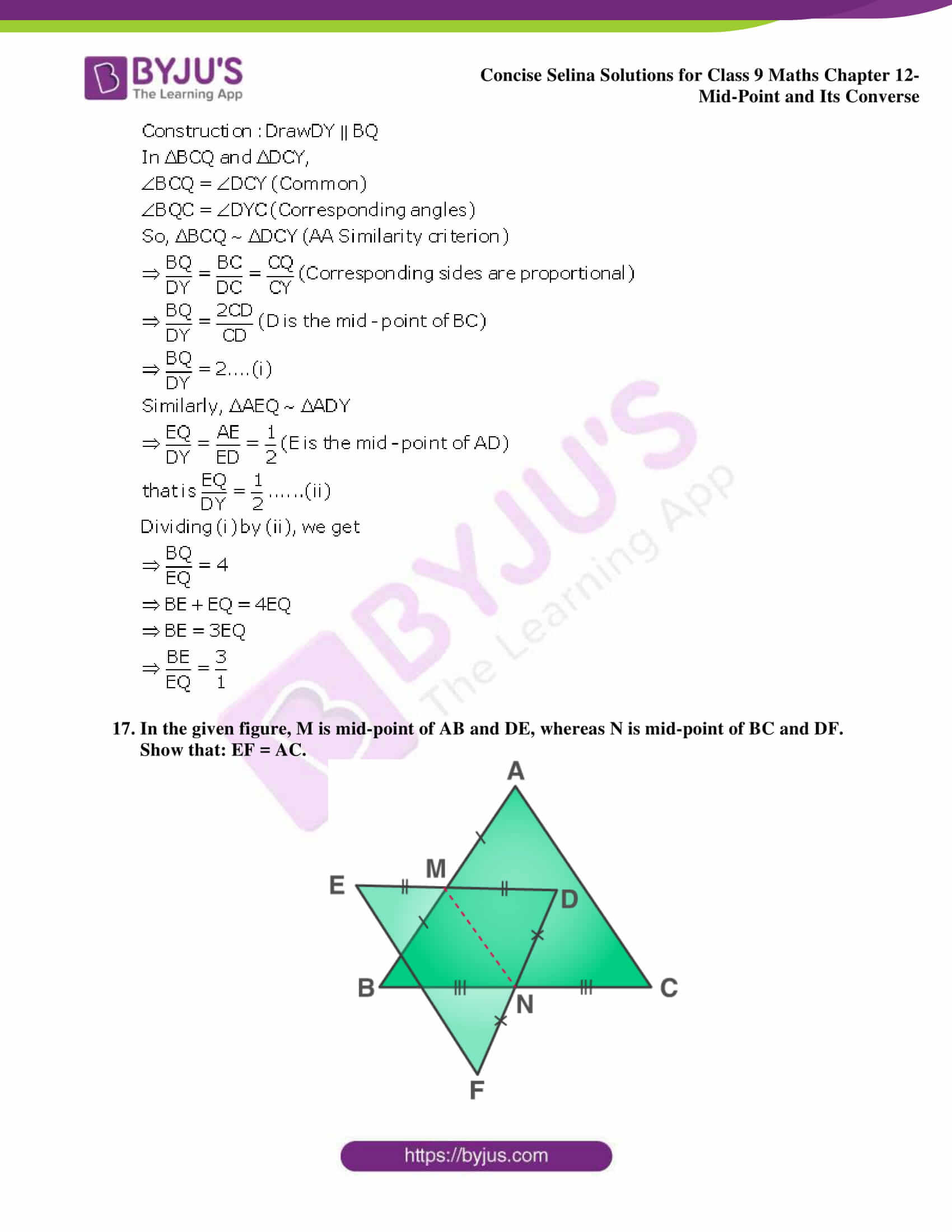 selina Solutions for Class 9 Maths Chapter 12 part 11