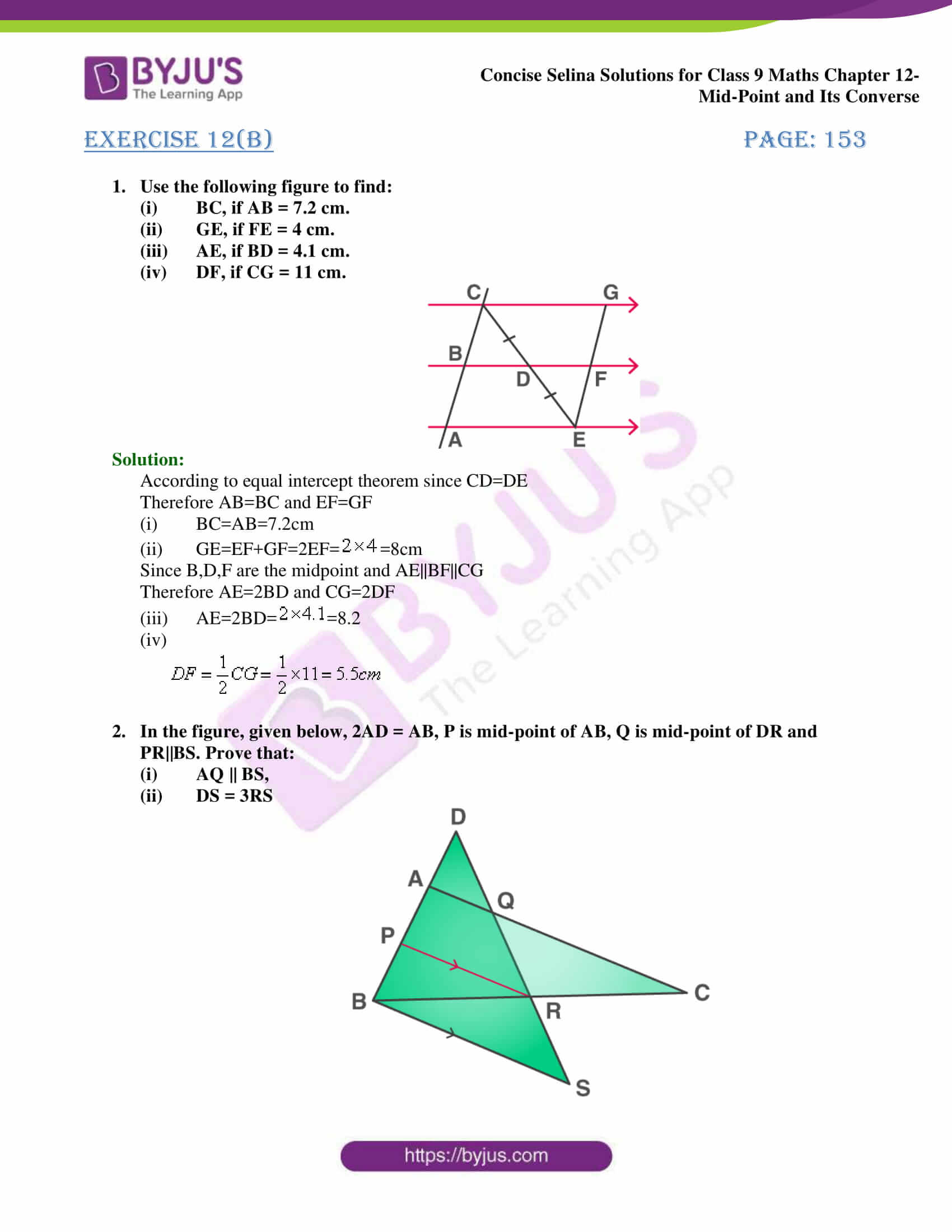 selina Solutions for Class 9 Maths Chapter 12 part 13