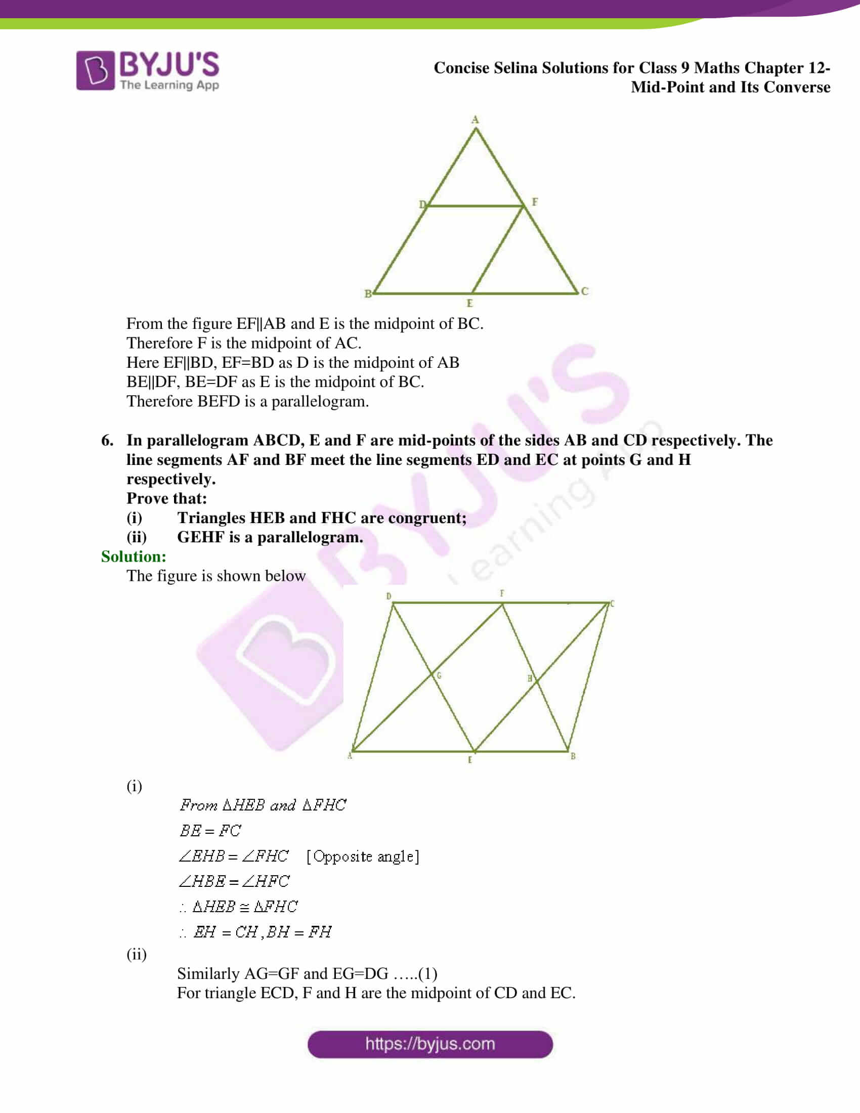selina Solutions for Class 9 Maths Chapter 12 part 16