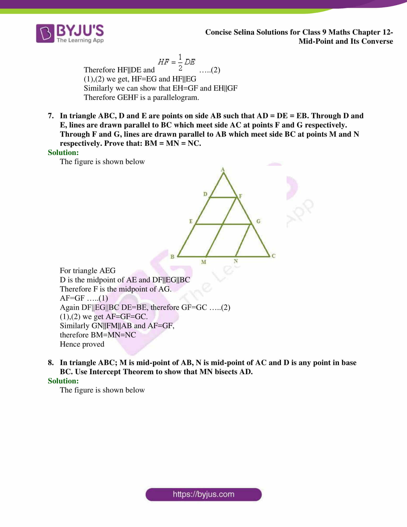 selina Solutions for Class 9 Maths Chapter 12 part 17