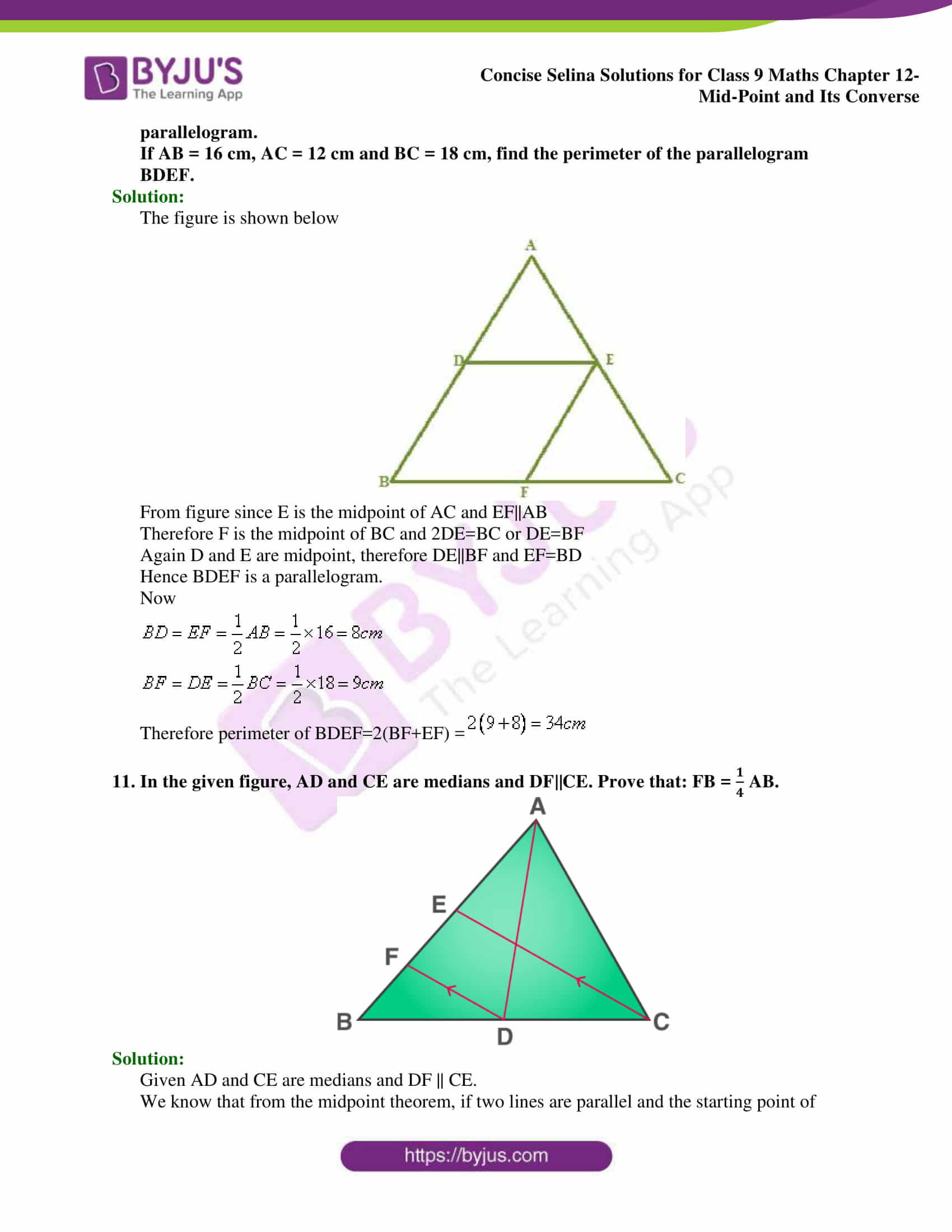 selina Solutions for Class 9 Maths Chapter 12 part 19