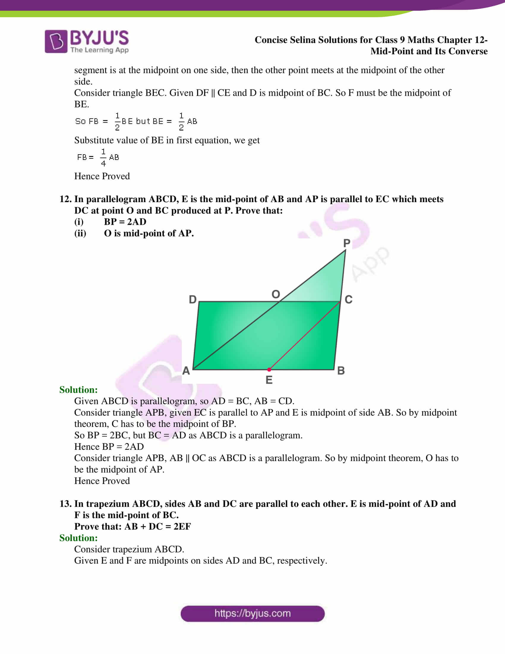 selina Solutions for Class 9 Maths Chapter 12 part 20