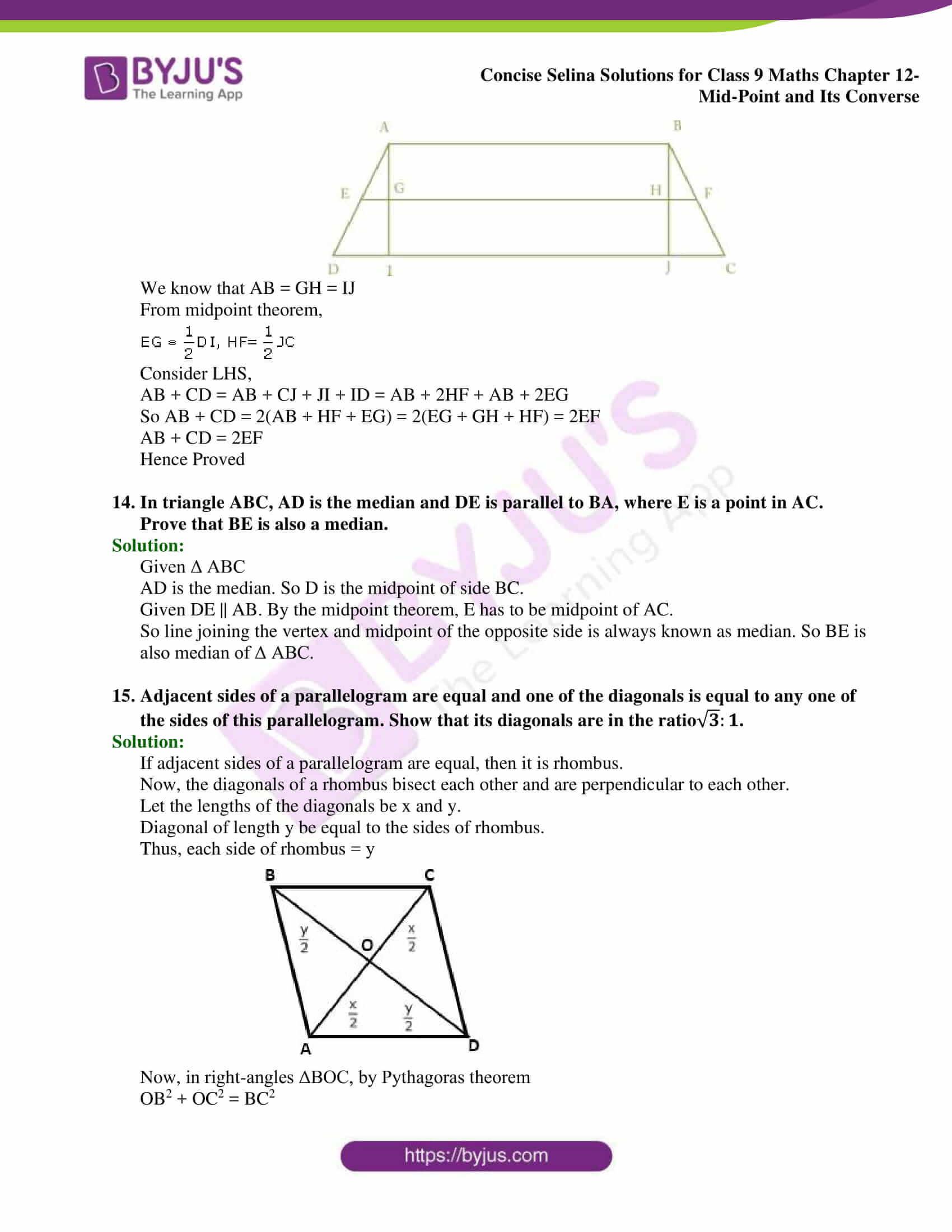 selina Solutions for Class 9 Maths Chapter 12 part 21