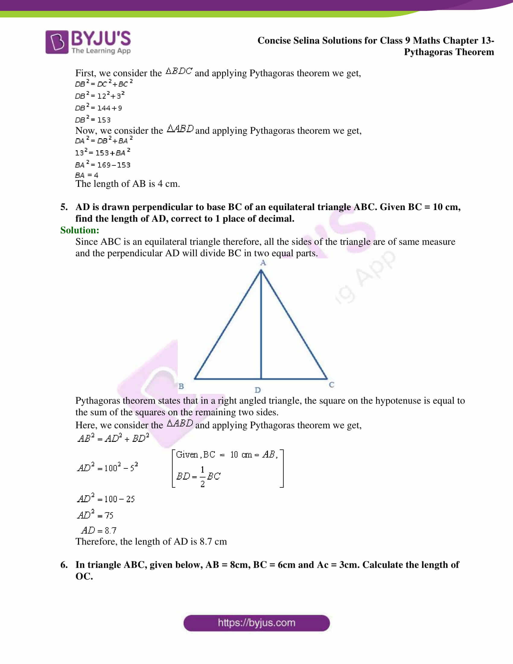 selina Solutions for Class 9 Maths Chapter 13 part 03