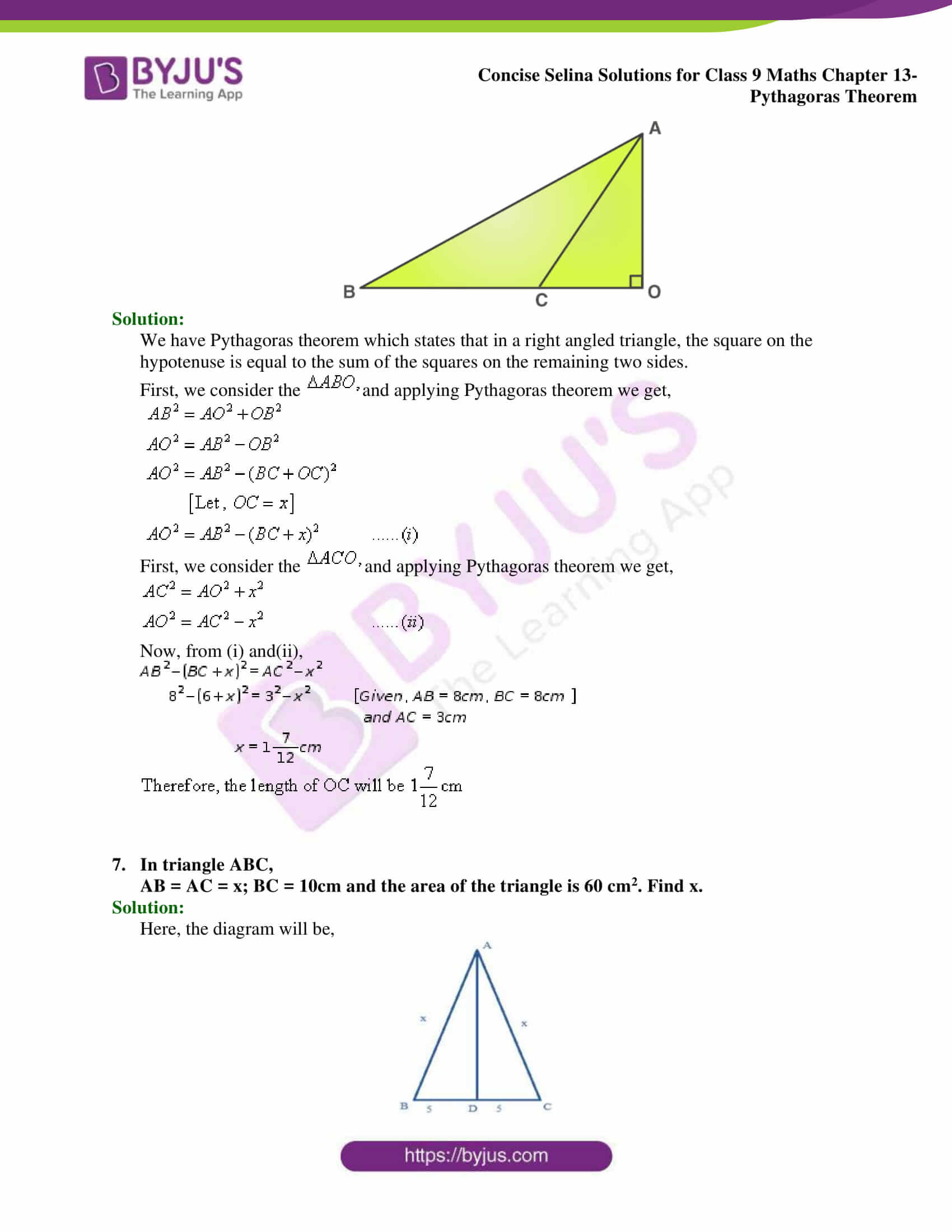 selina Solutions for Class 9 Maths Chapter 13 part 04