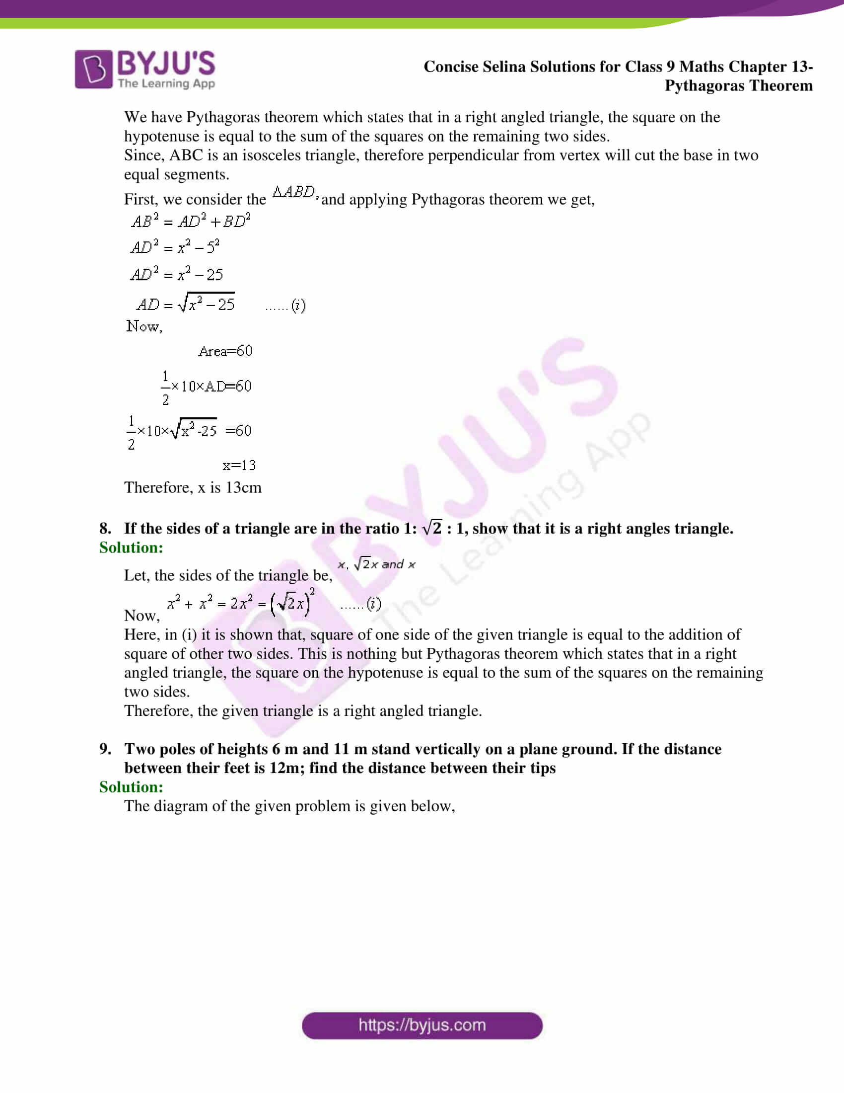 selina Solutions for Class 9 Maths Chapter 13 part 05