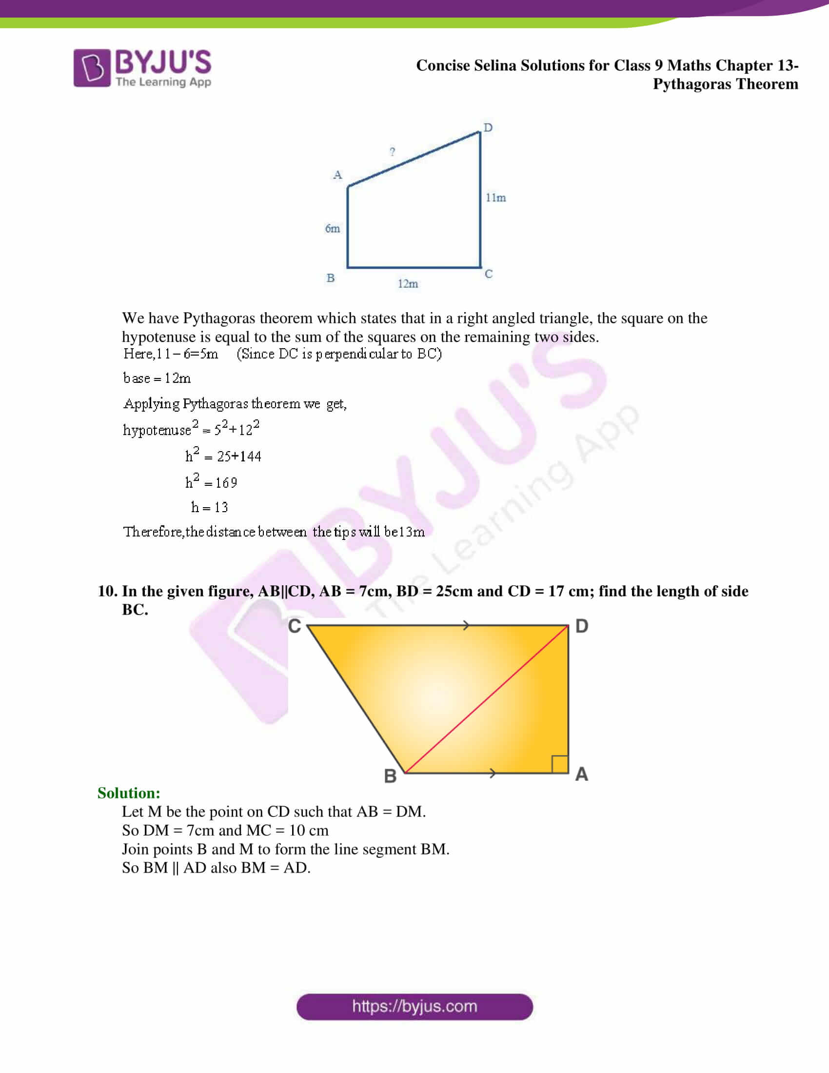 selina Solutions for Class 9 Maths Chapter 13 part 06