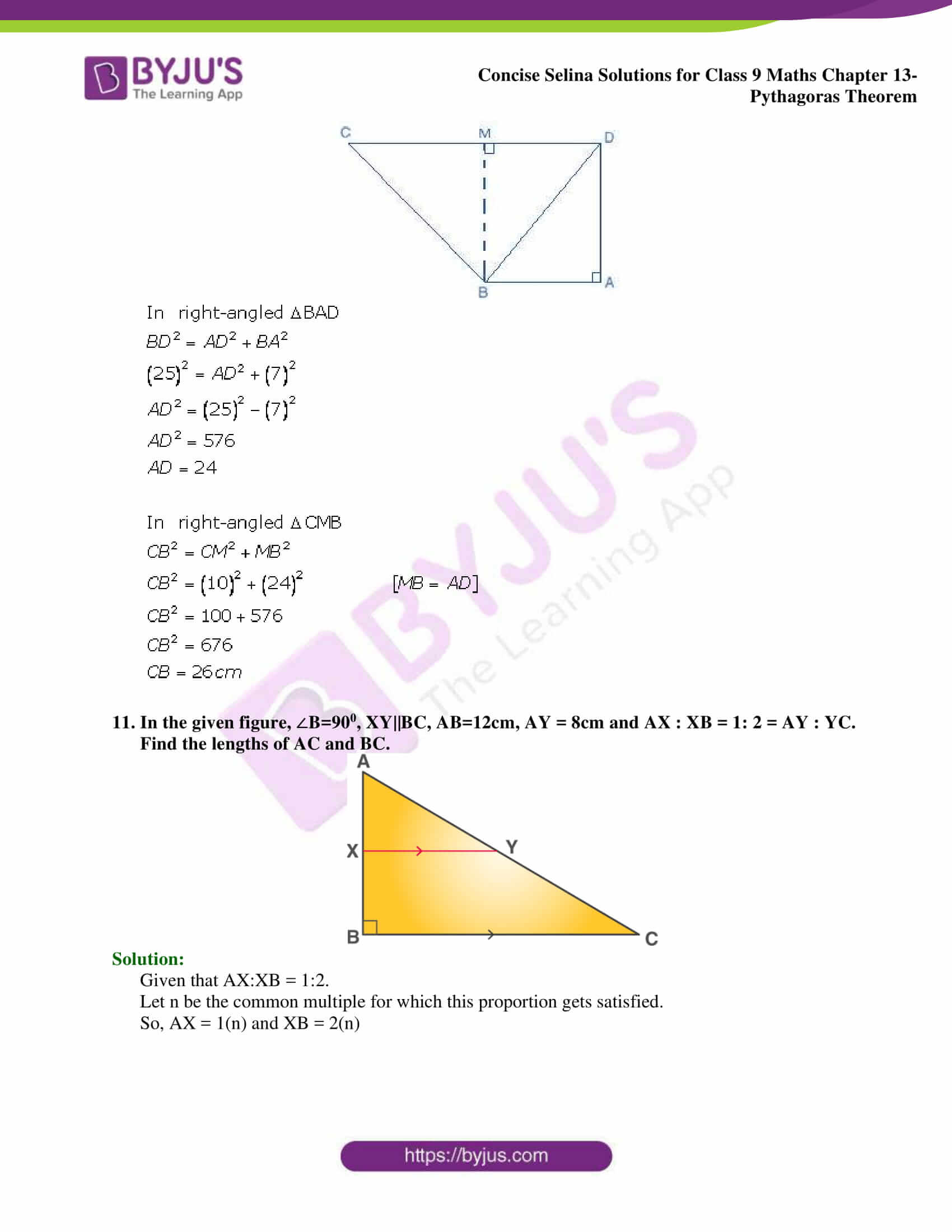 selina Solutions for Class 9 Maths Chapter 13 part 07