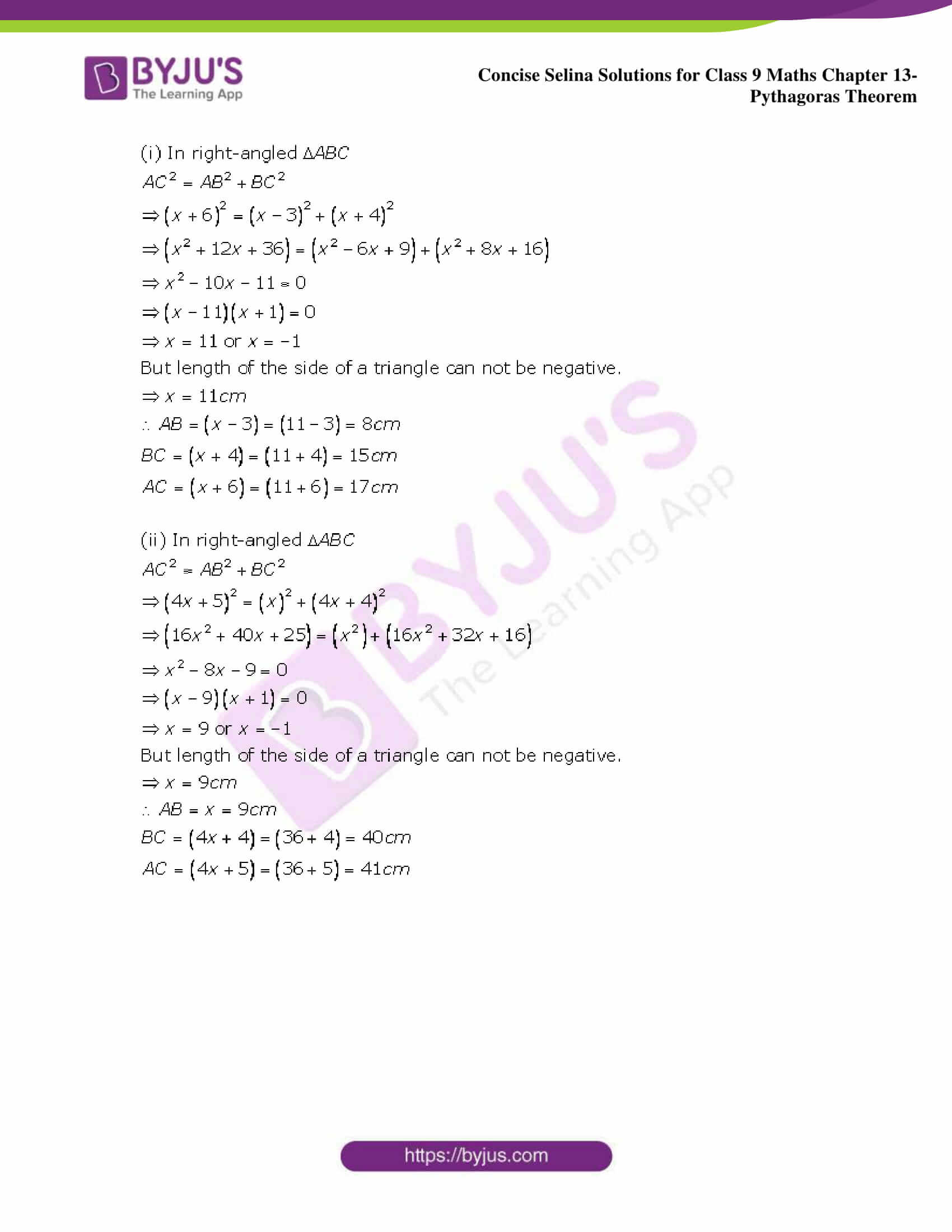 selina Solutions for Class 9 Maths Chapter 13 part 09