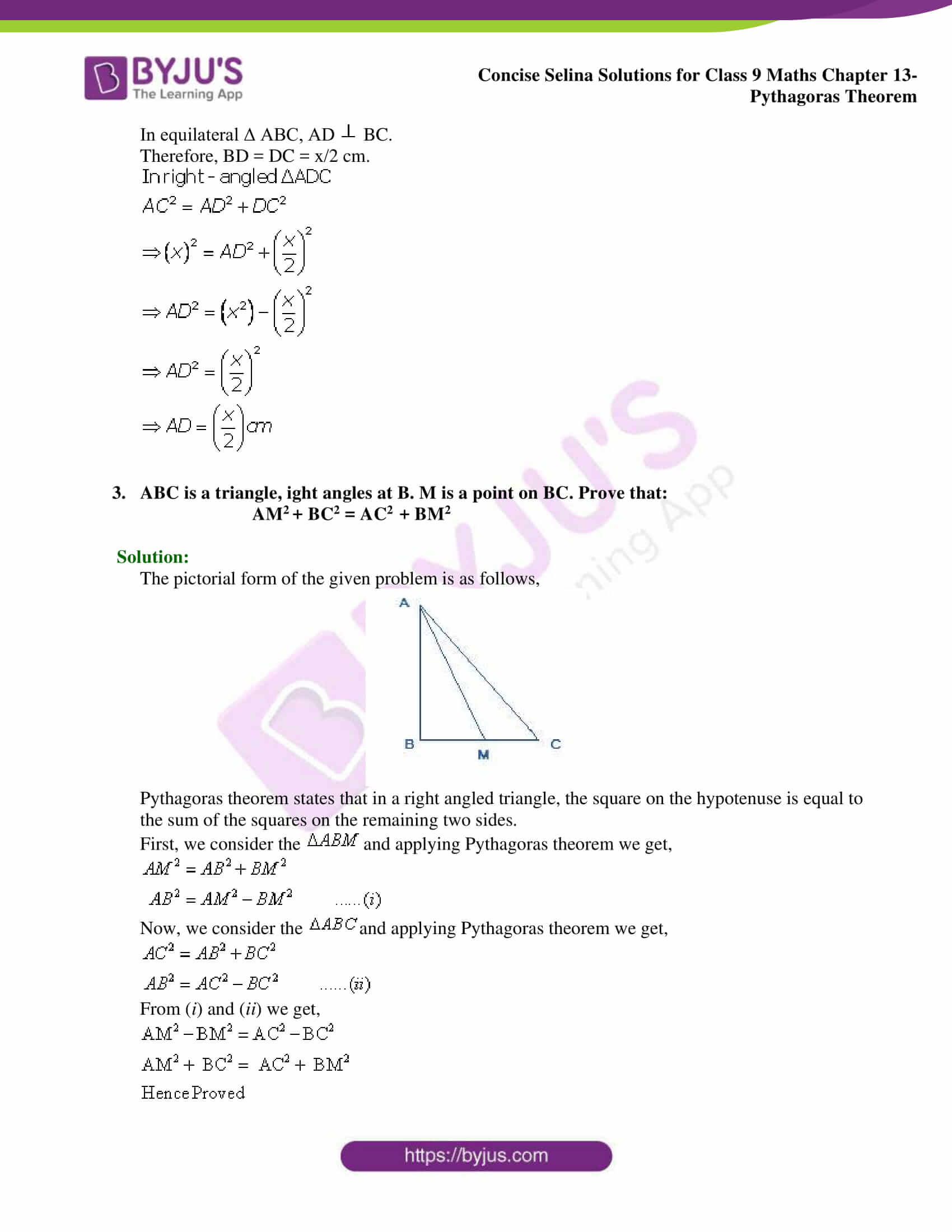 selina Solutions for Class 9 Maths Chapter 13 part 11