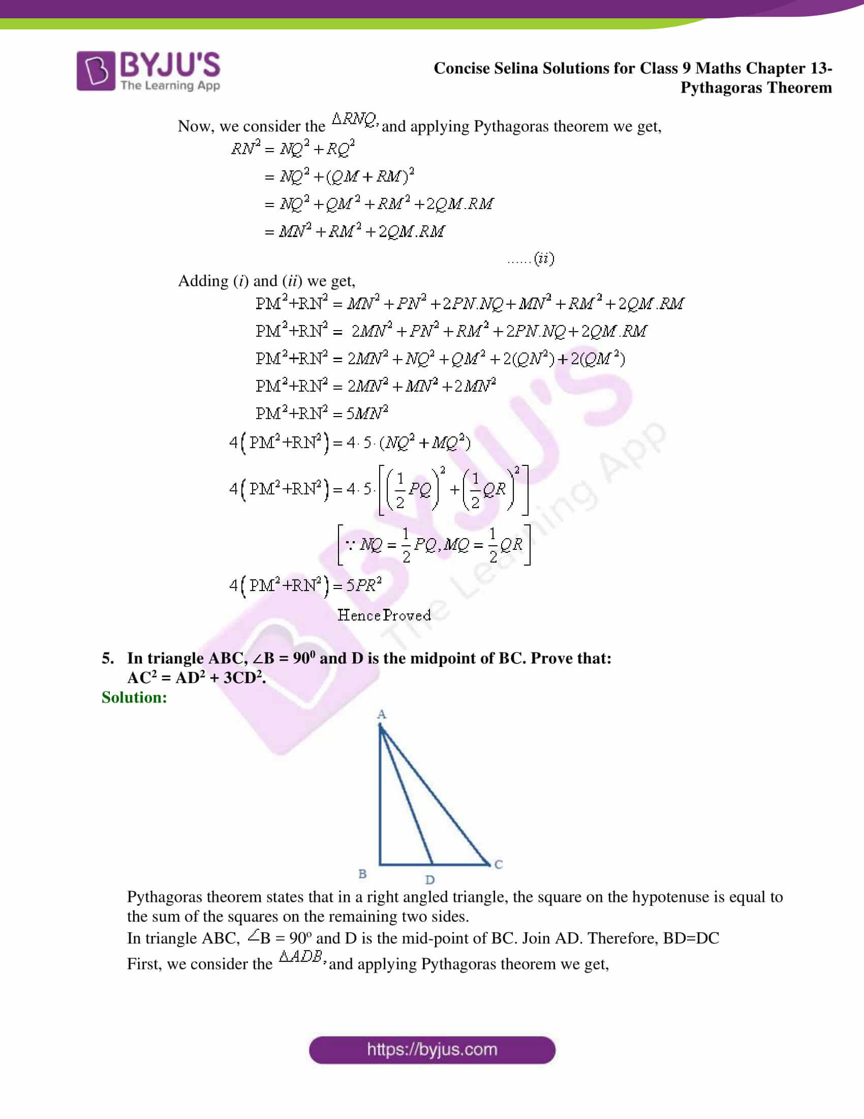 selina Solutions for Class 9 Maths Chapter 13 part 14