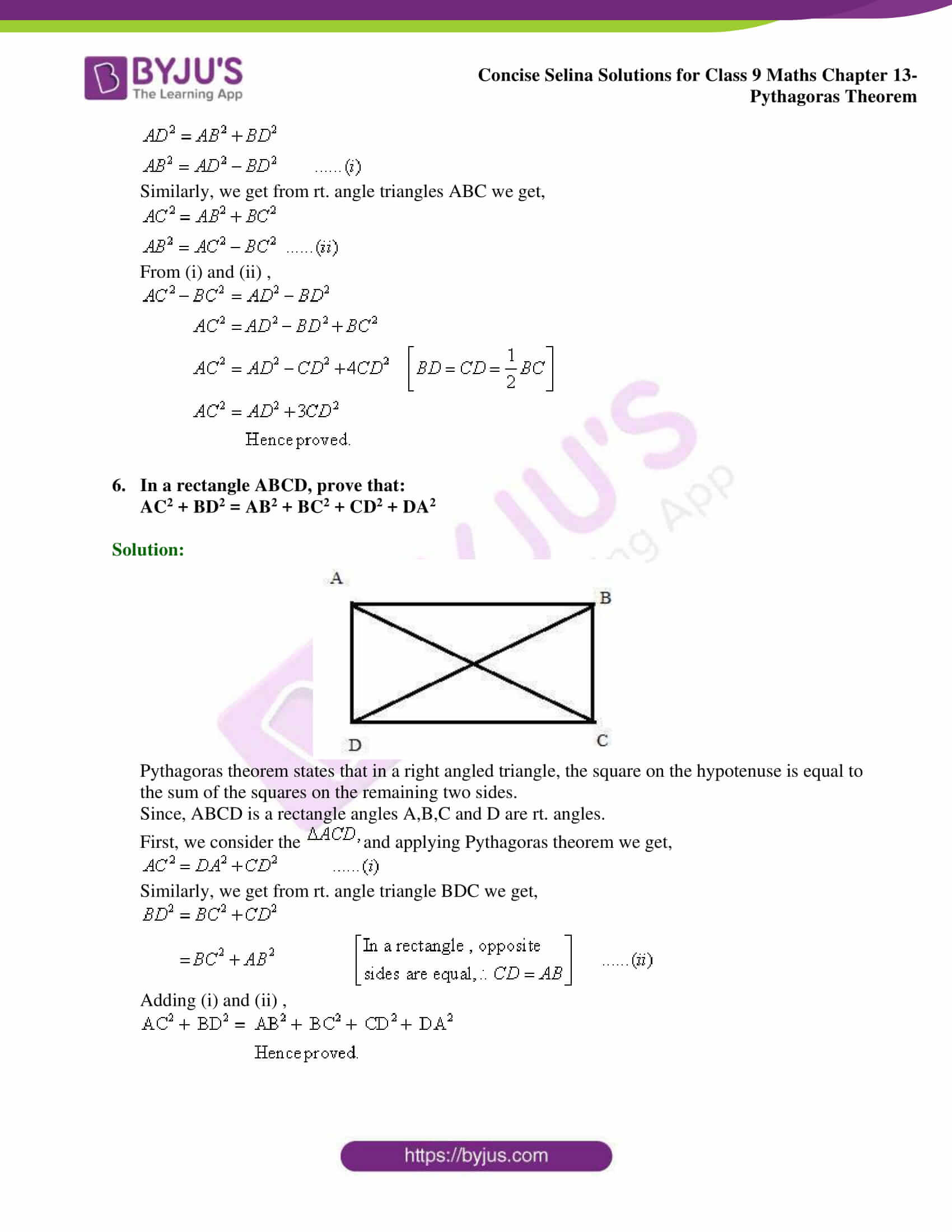 selina Solutions for Class 9 Maths Chapter 13 part 15