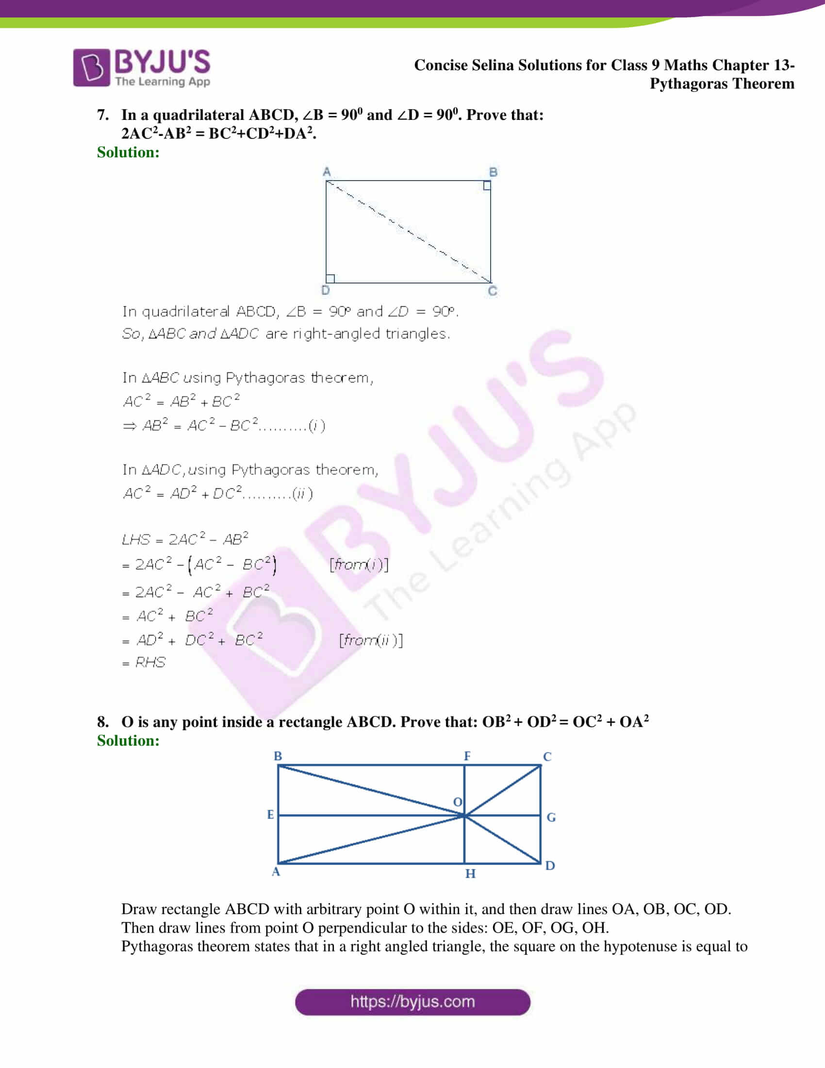 selina Solutions for Class 9 Maths Chapter 13 part 16
