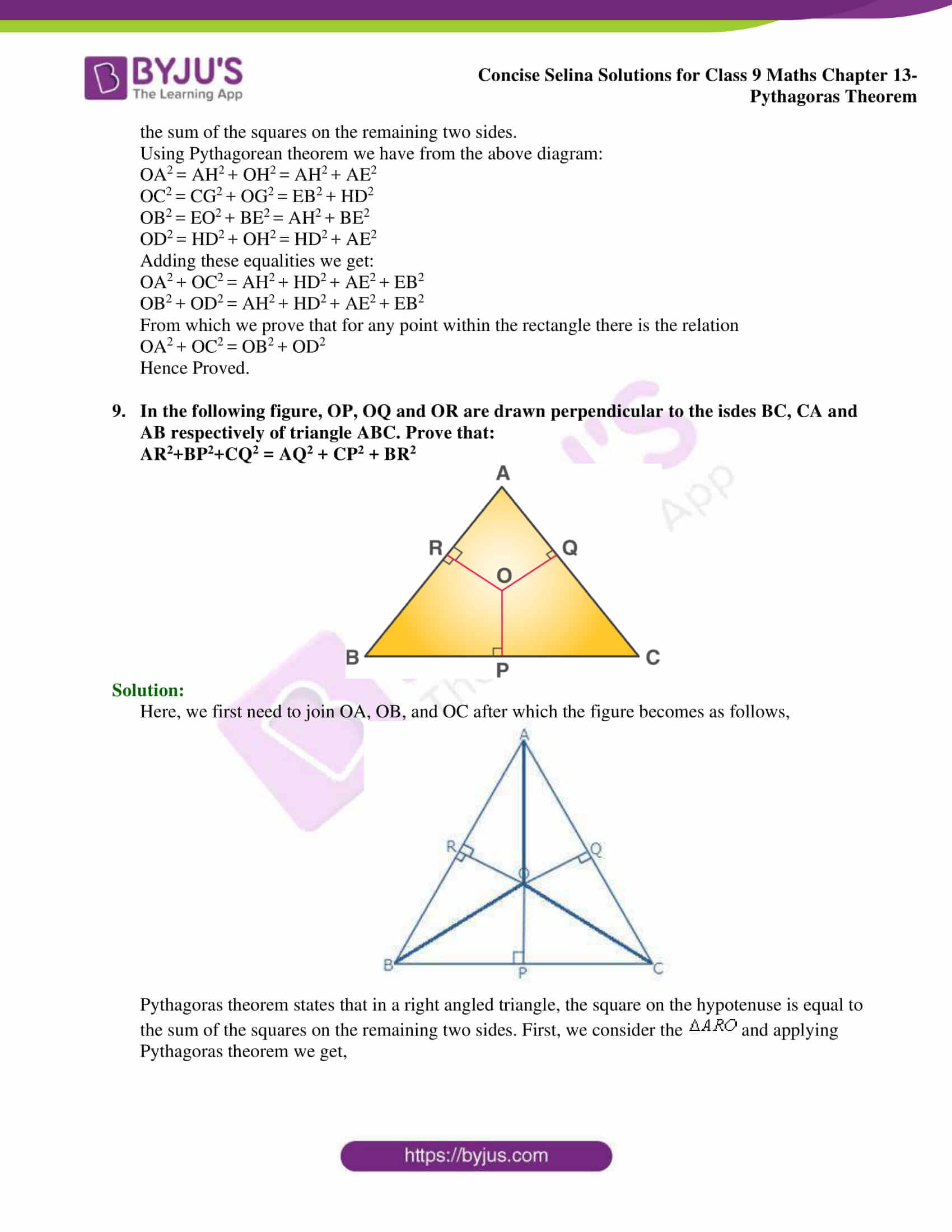 selina Solutions for Class 9 Maths Chapter 13 part 17