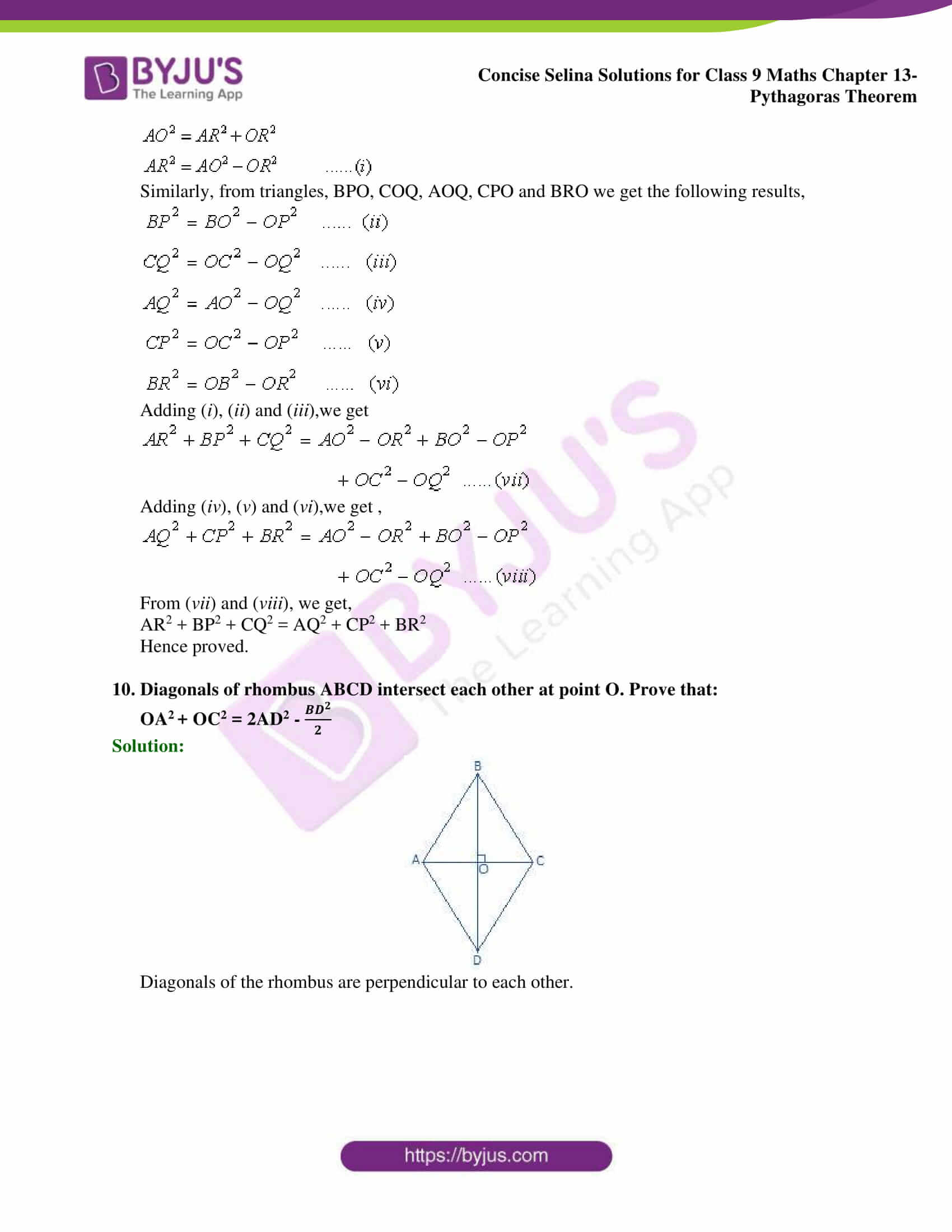 selina Solutions for Class 9 Maths Chapter 13 part 18