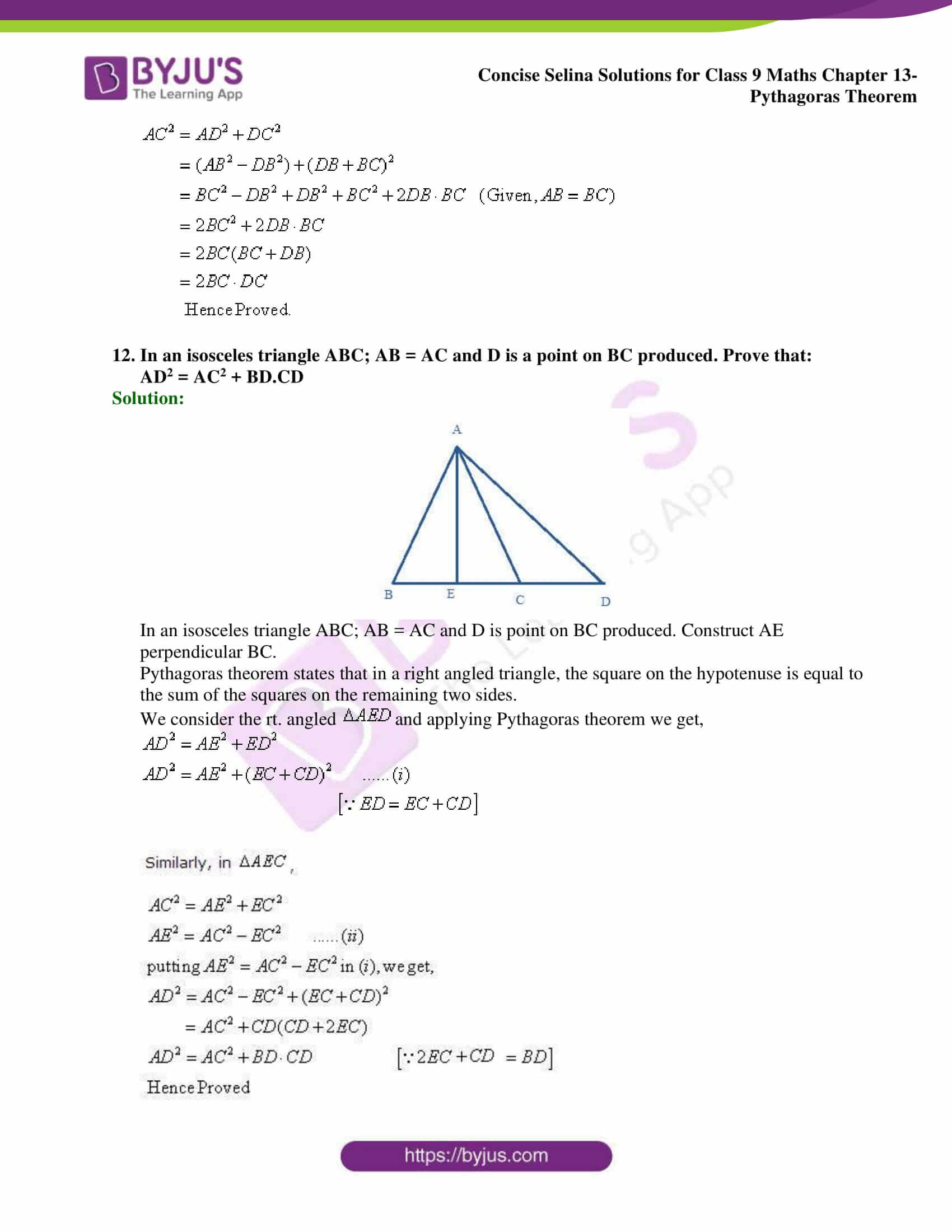 selina Solutions for Class 9 Maths Chapter 13 part 20