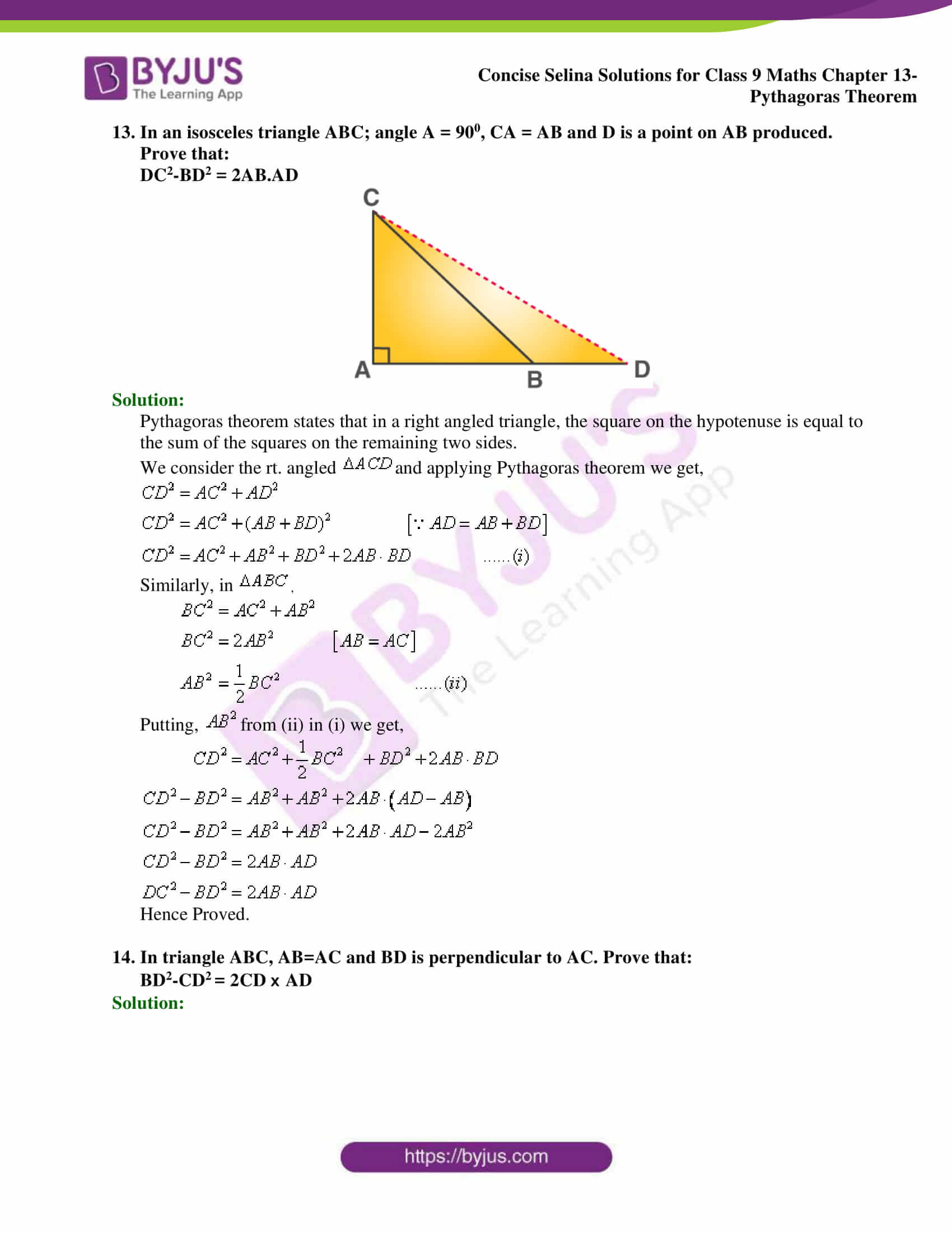 selina Solutions for Class 9 Maths Chapter 13 part 21